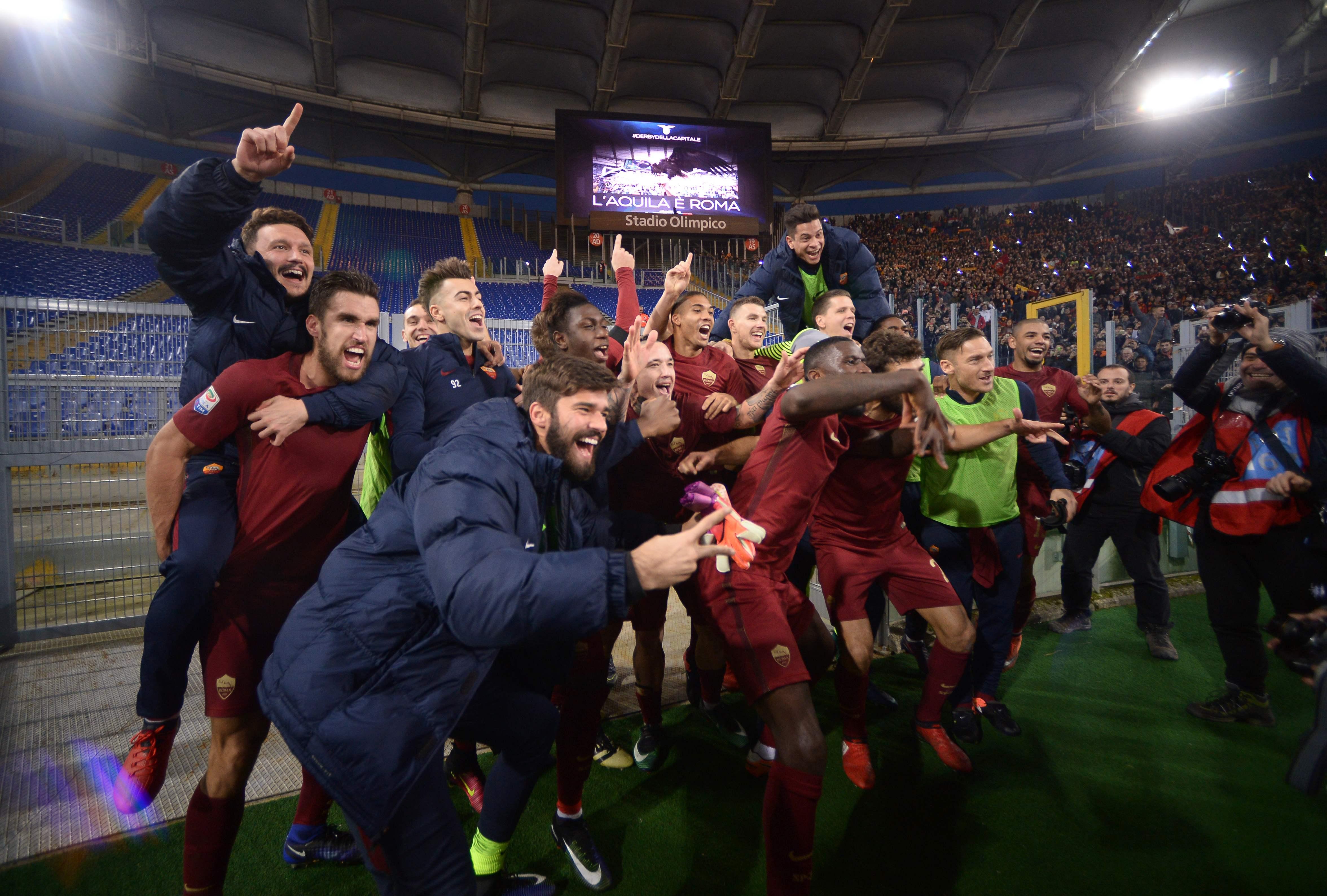 روما يحسم ديربي العاصمة بفوزه على لاتسيو