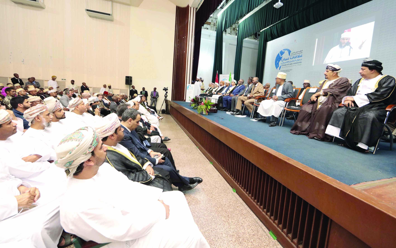 """انطلاق فعاليات المؤتمر الدولي الخامس """"علاقات عمان بدول القرن الأفريقي"""""""