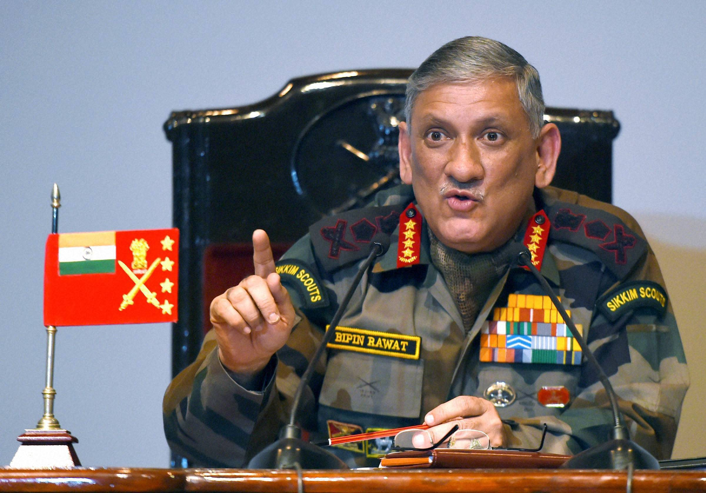 Indian Army chief warns soldiers airing their issues on social media