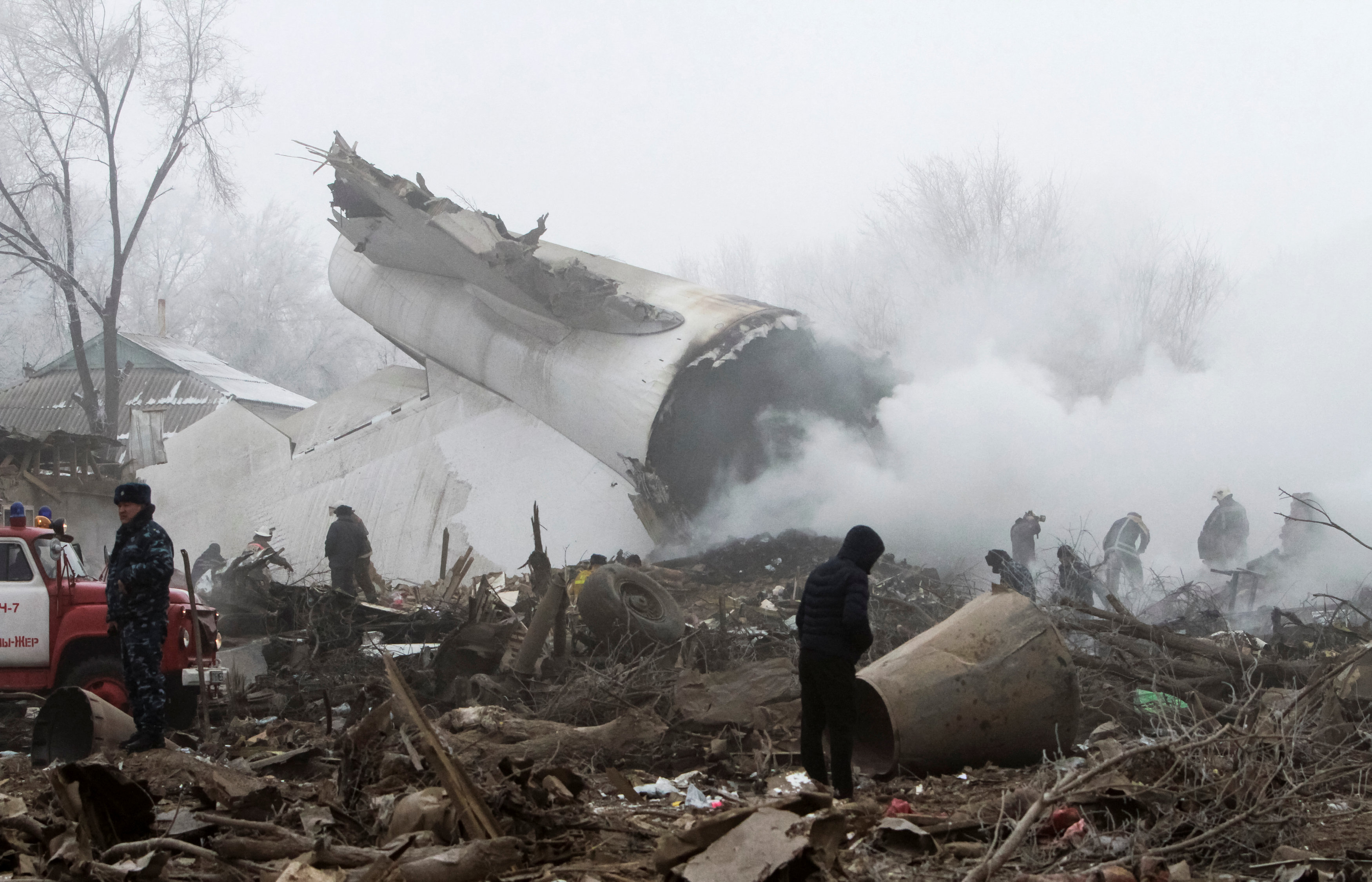 In Pictures: Turkish cargo plane crashes in Kyrgyzstan