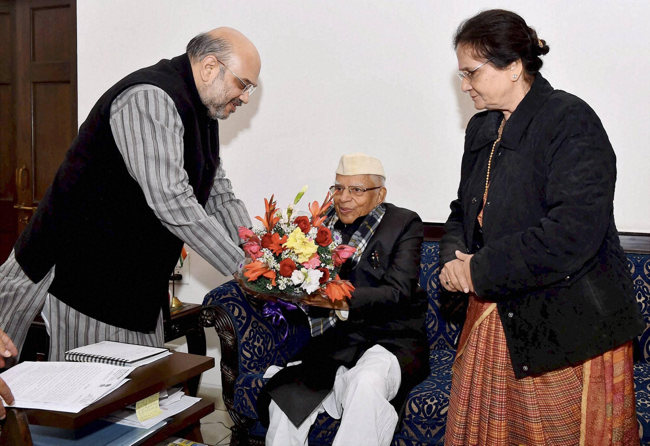Veteran Congress leader ND Tiwari joins BJP