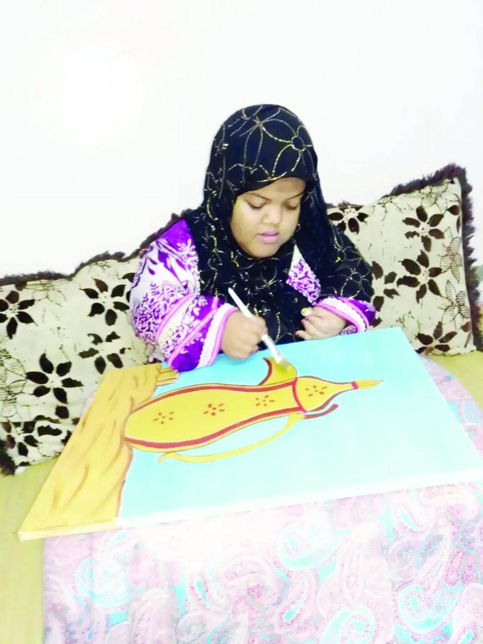 صفاء الصالحية تحقق المركز الأول خليجيًا في رسم الكاريكاتير الإعلامي