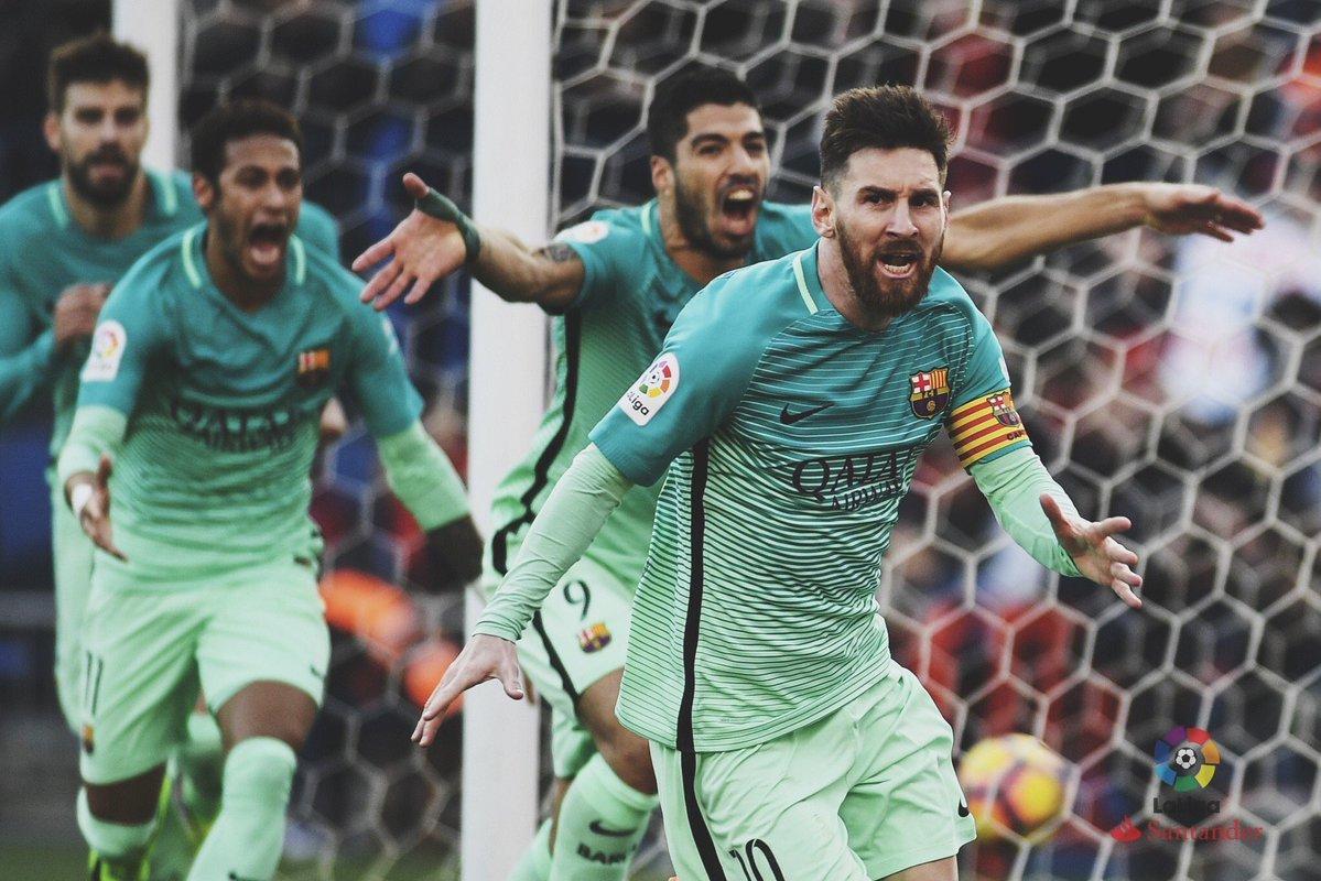 البولغا ميسي يقود برشلونة لفوز صعب على الأتلتيكو