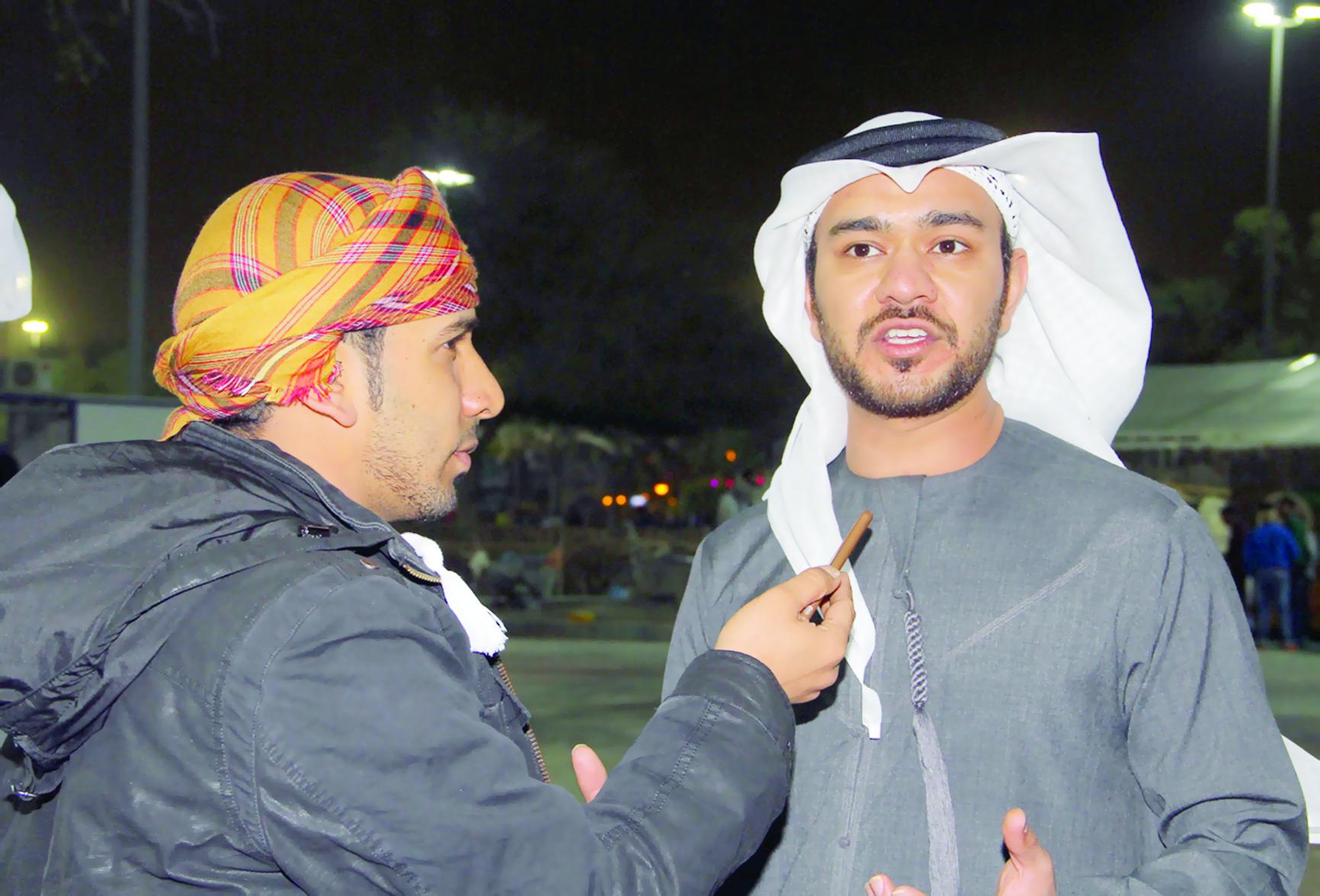الوفد الإعلامي الإماراتي يزور المهرجان بمتنزه النسيم