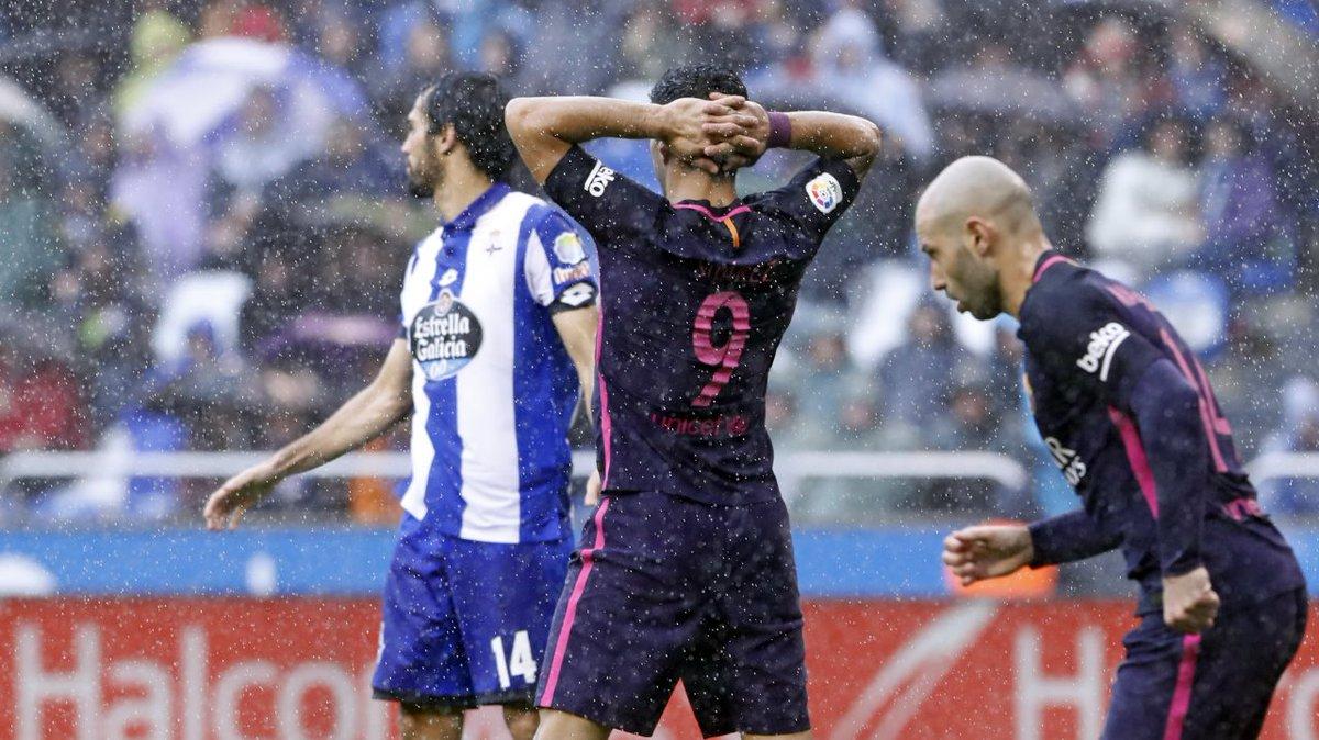 خسارة مفاجأة لبرشلونة أمام ديبورتيفو لاكورونيا