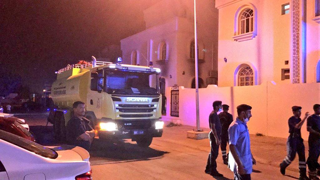 انقاذ 7 أشخاص من حريق شب في مبنى سكني بالعذبية