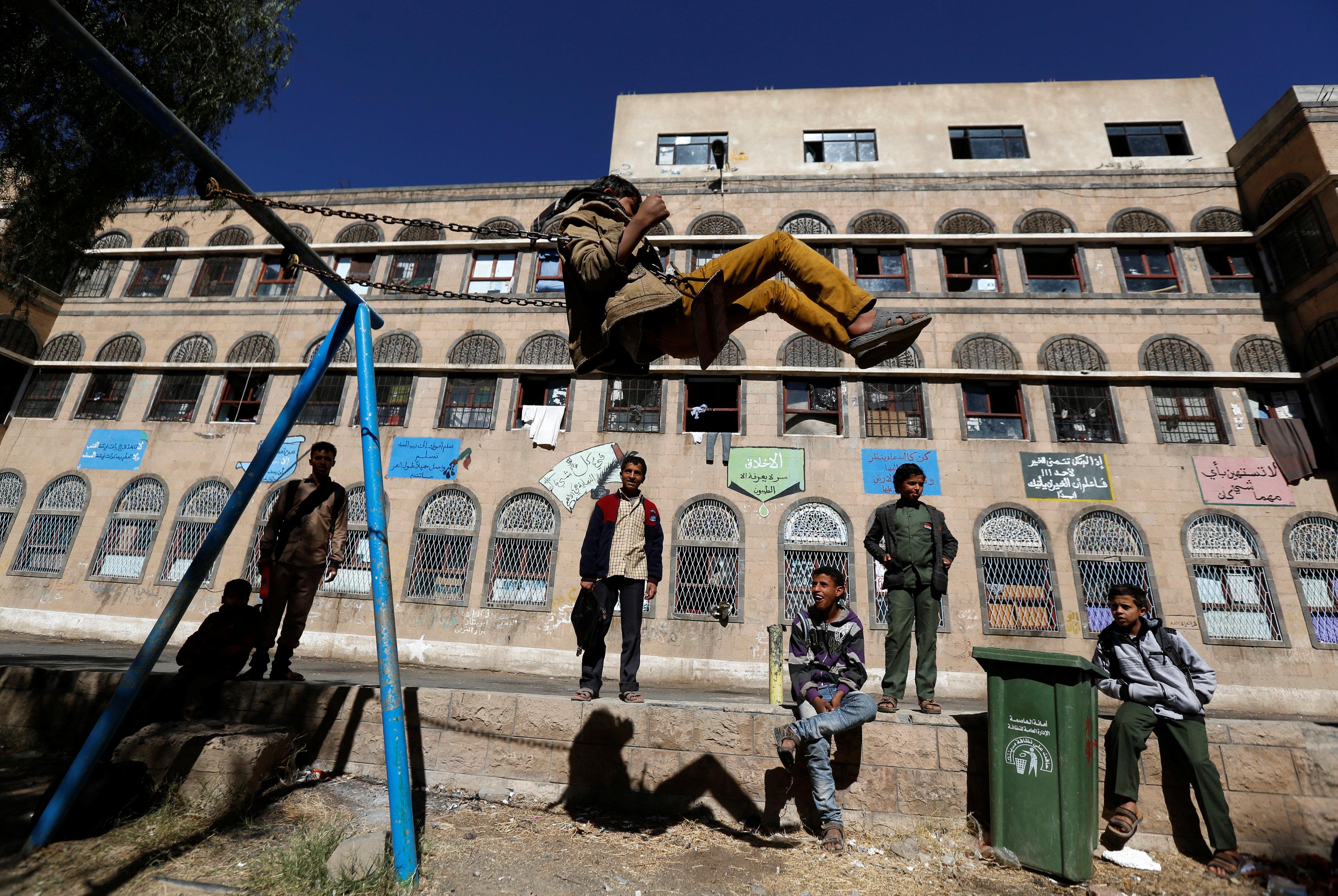 Yemen orphanage braves air strikes