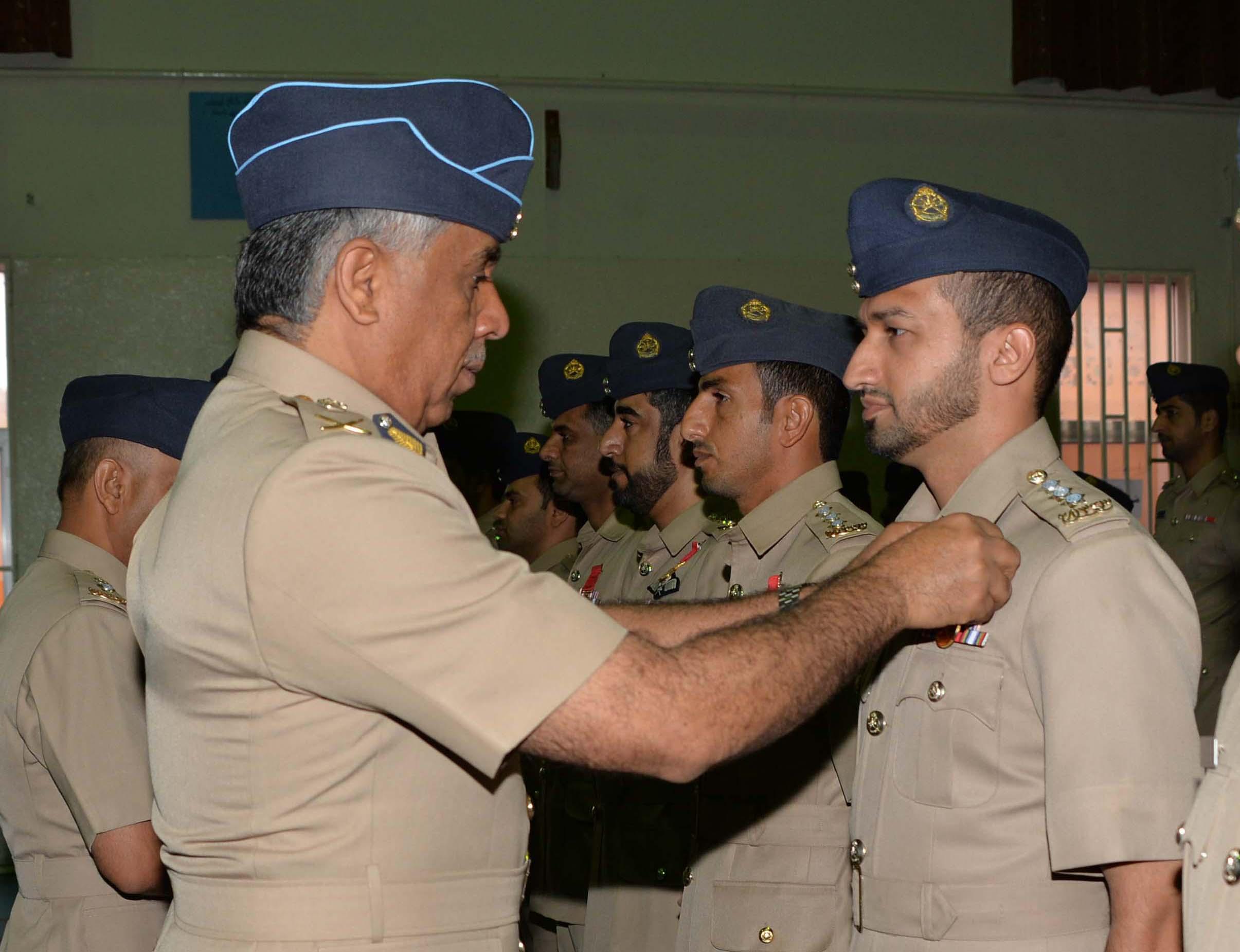 Royal Air Force of Oman commander pins Long Service Medals