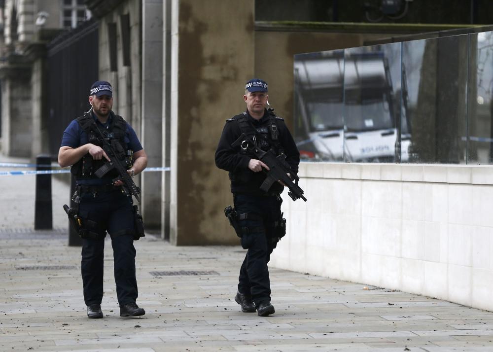 British police arrest seven in probe into attack on parliament