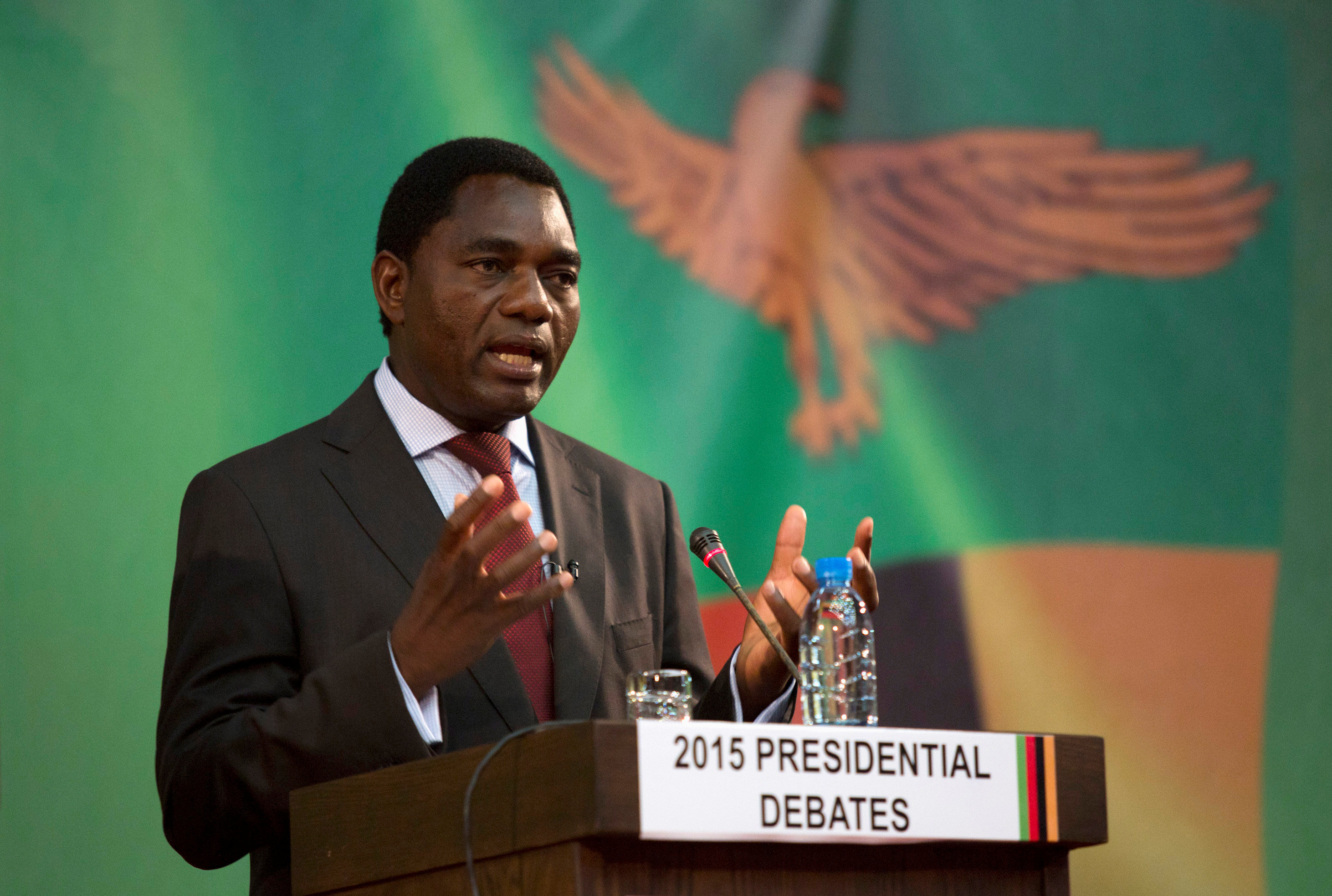 Zambian opposition leader charged with trying to overthrow government