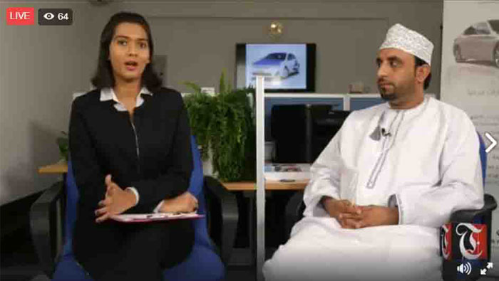 Times TV's Lunchtime Live with Yousuf Al Hooti, project manager, Marhaba Taxi