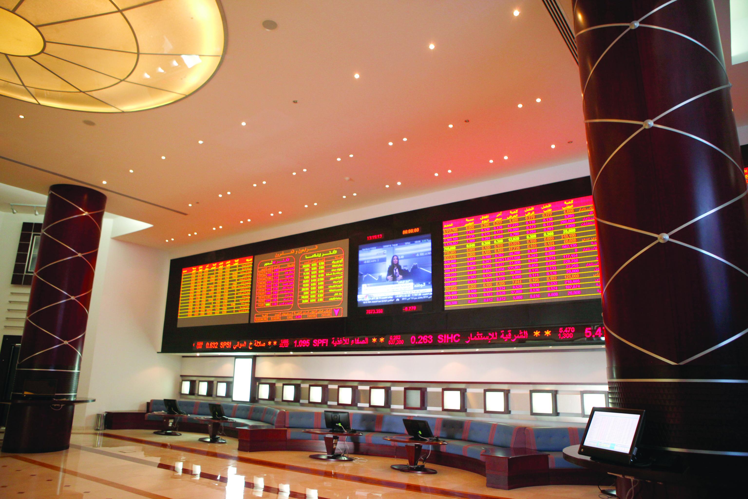 سوق مسقط يتراجع والاستثمار الأجنبي يرتفع