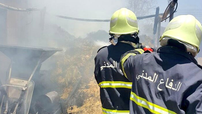 Farm fire tended to in Oman