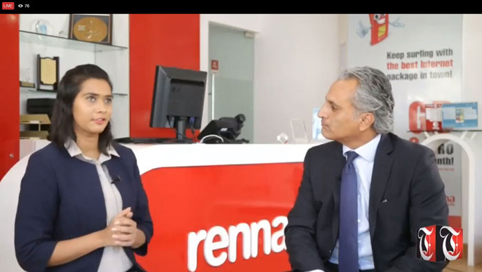 Times TV's Lunchtime Live with Raed Haddadin, CEO of Renna Mobile