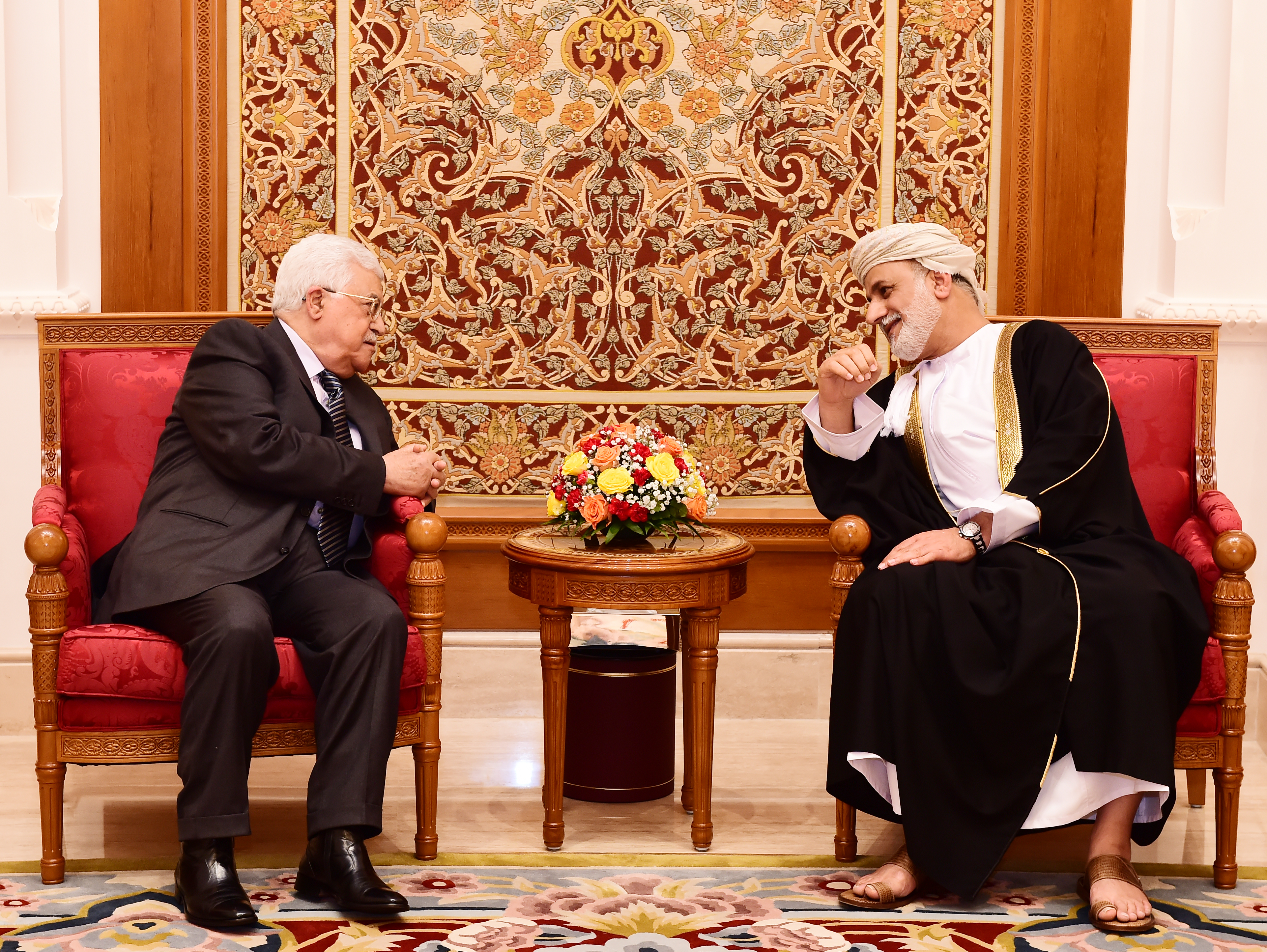 Palestinian President Abbas arrives in Oman on a two-day visit
