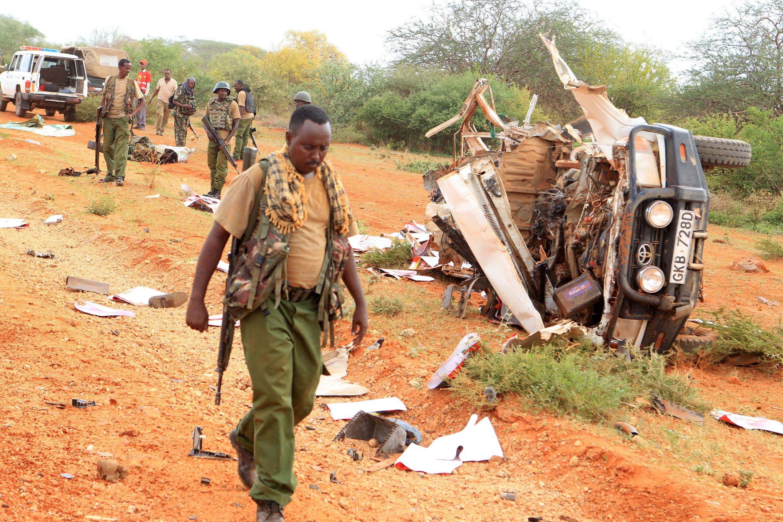Eight Kenyan security officers killed in roadside bombings