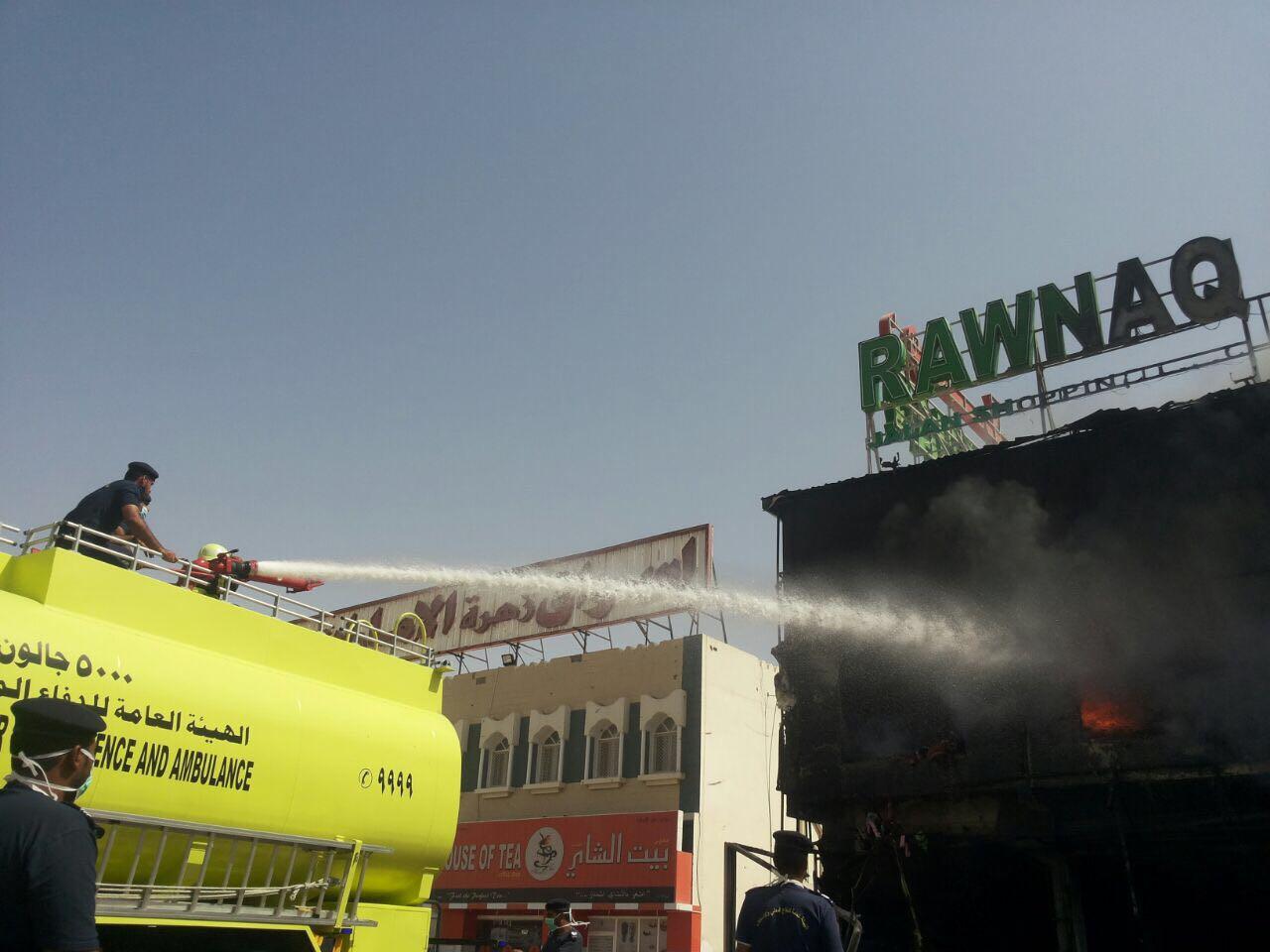 الهيئة العامة للدفاع المدني والإسعاف تسيطر على حريق بجعلان بني بوعلي