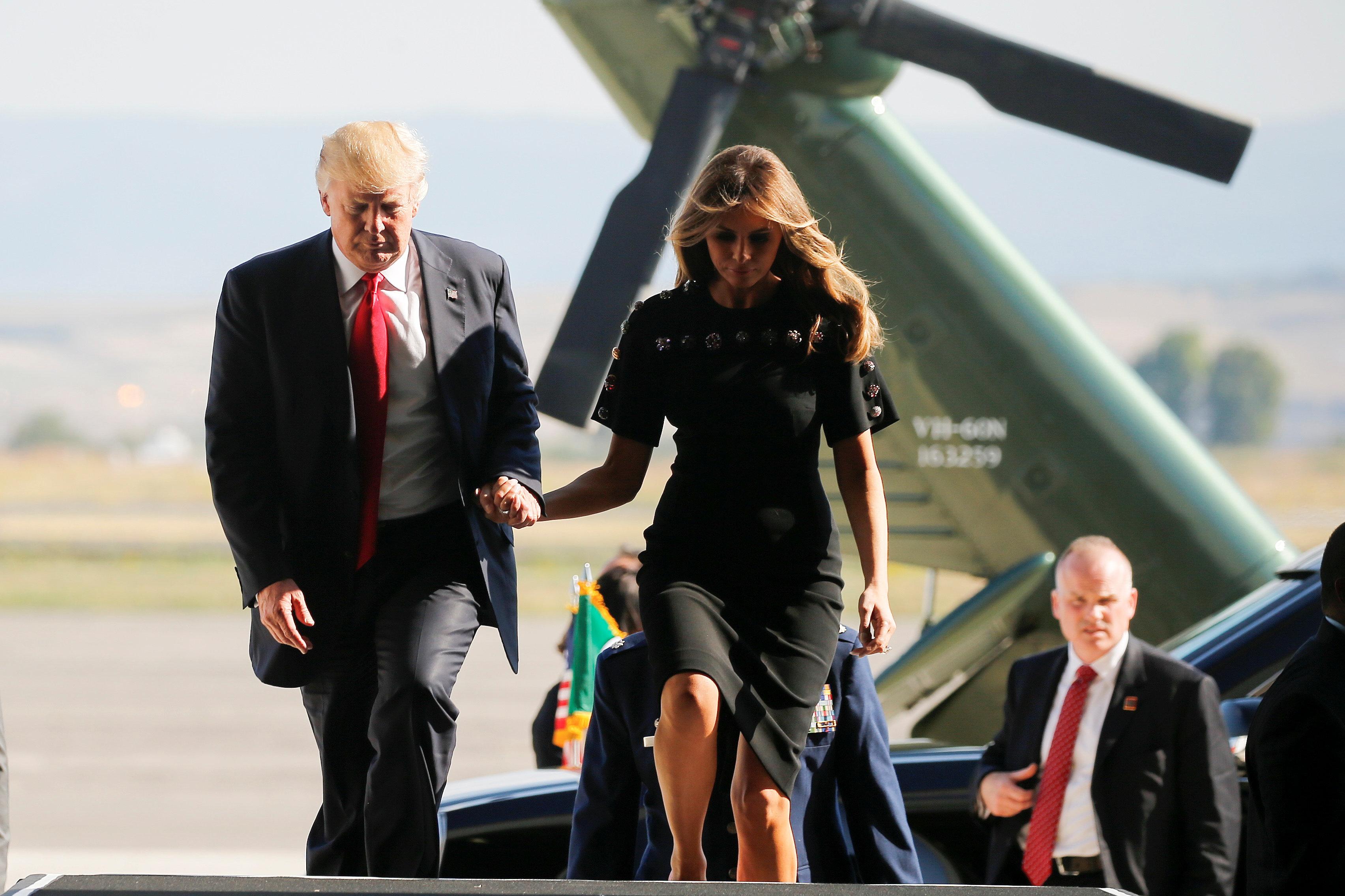 Trump ends nine-day overseas trip with a flourish