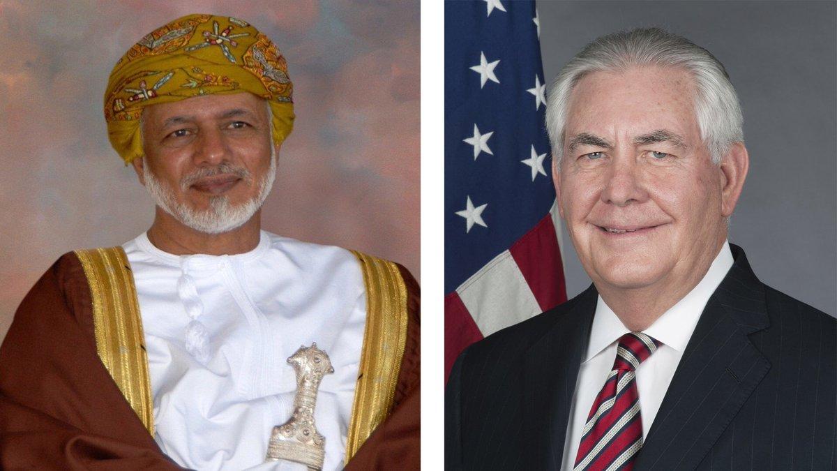 Alawi, Tillerson discuss Yemen, GCC crisis