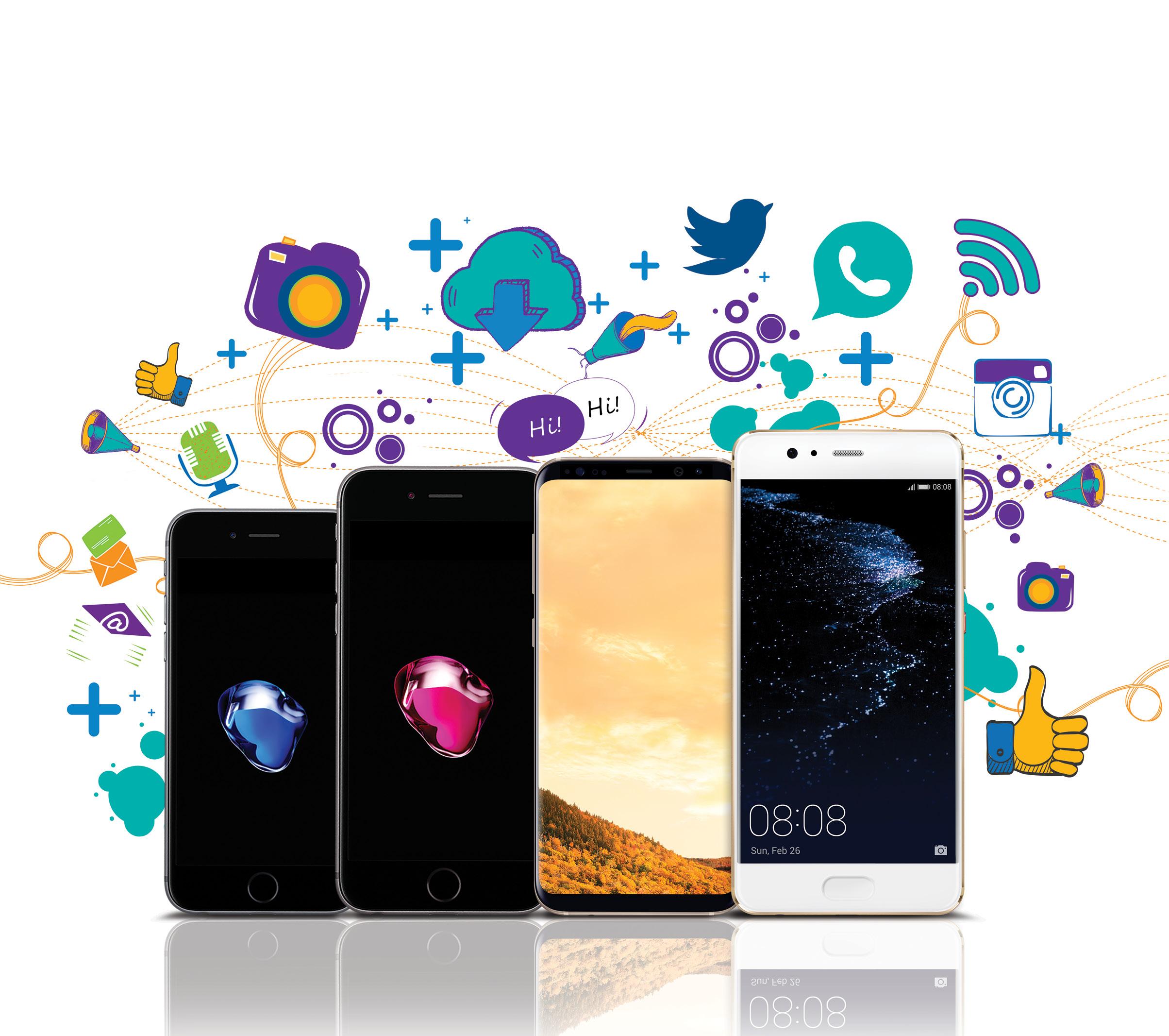 هواتف ذكية لمشتركي عمانتل بالتقسيط المريح وخصم على قيمة الجهاز يصل الى 100 ريال