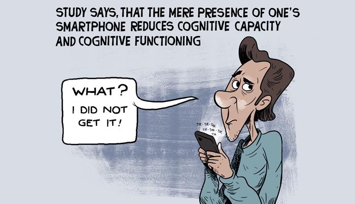 Effect of smartphones on brain
