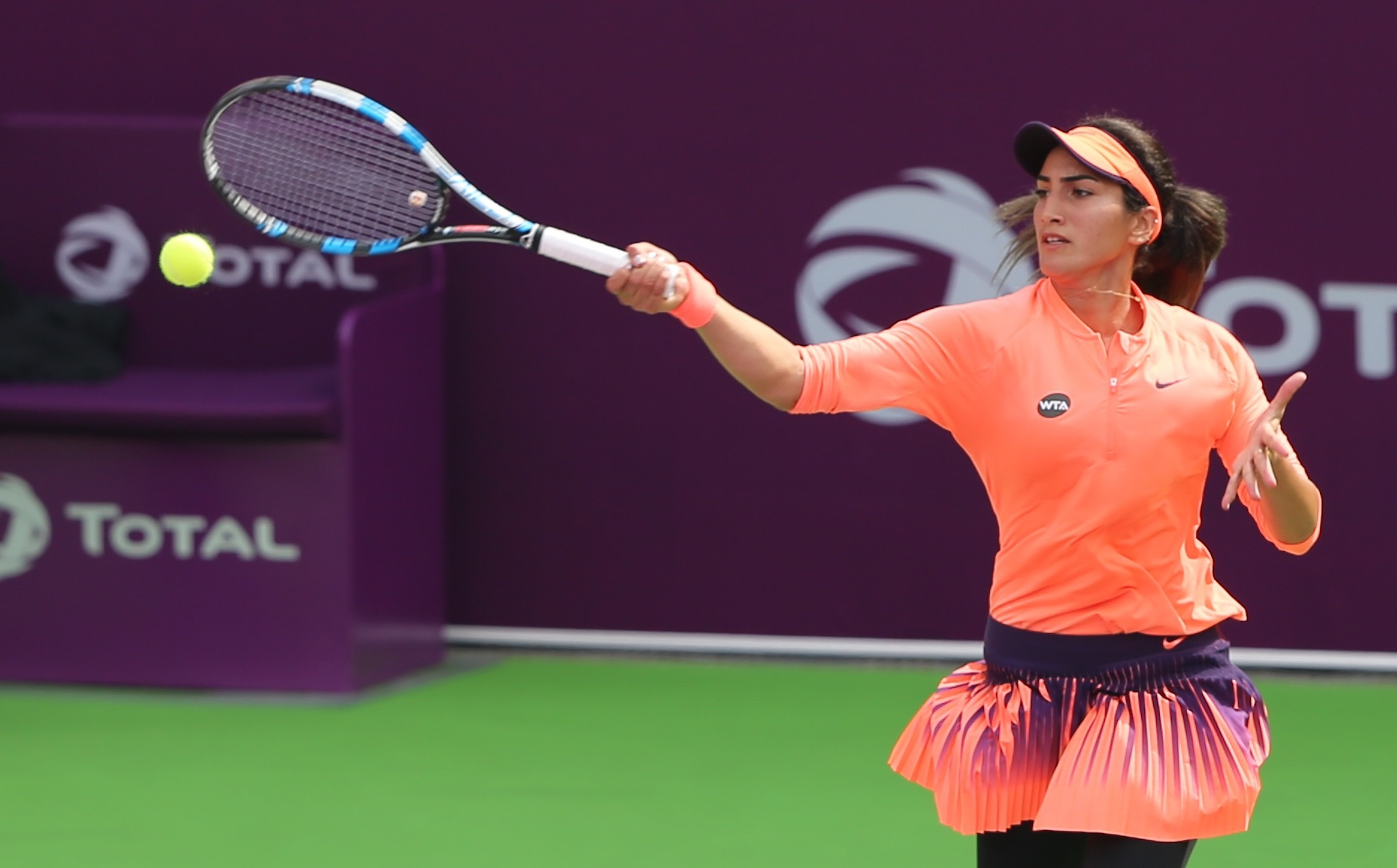 """النبهانية تبلغ الدور الثاني من بطولة """"هين هن"""" الدولية لتنس النساء"""