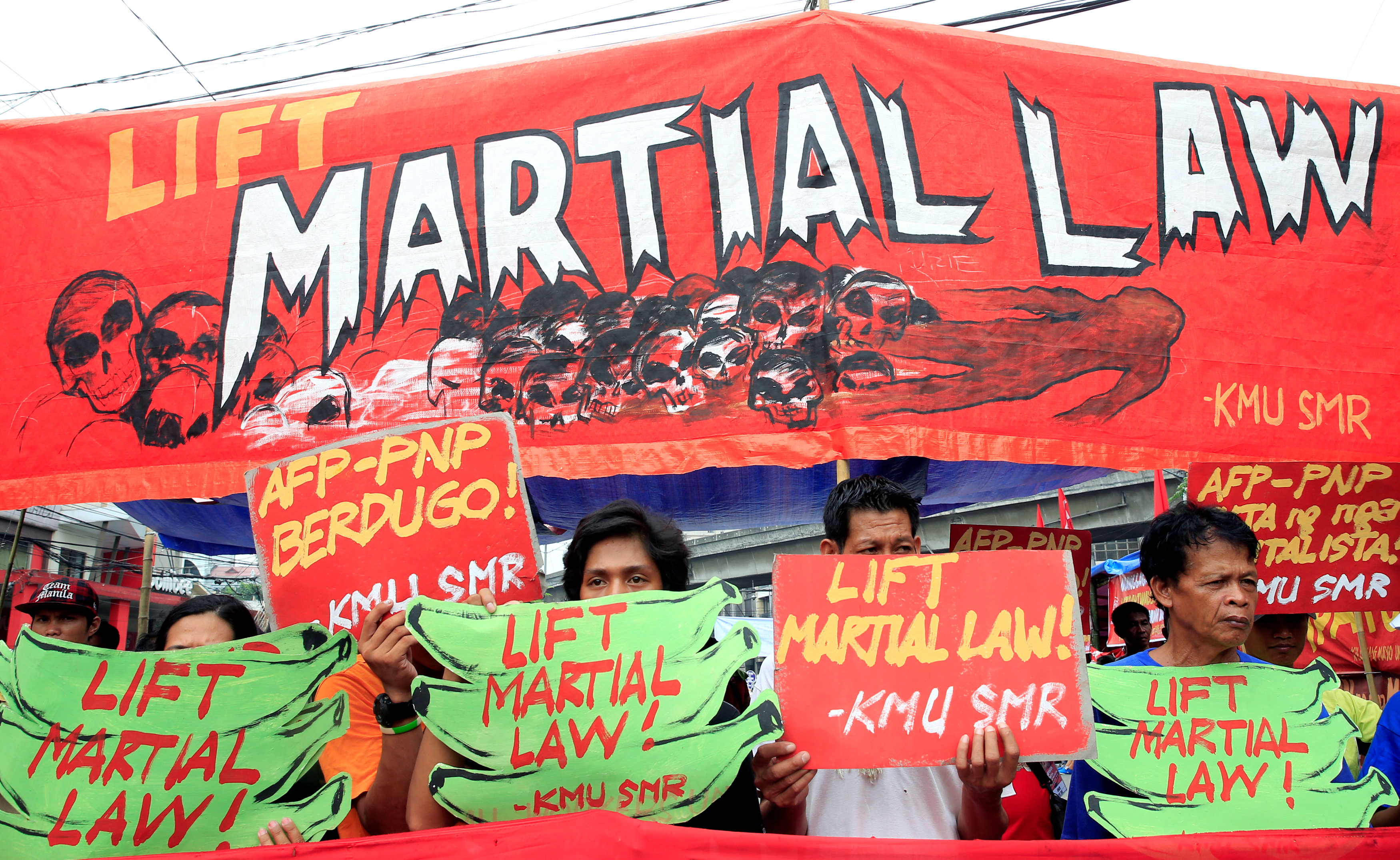 Philippine president asks Congress to keep martial law until end of year