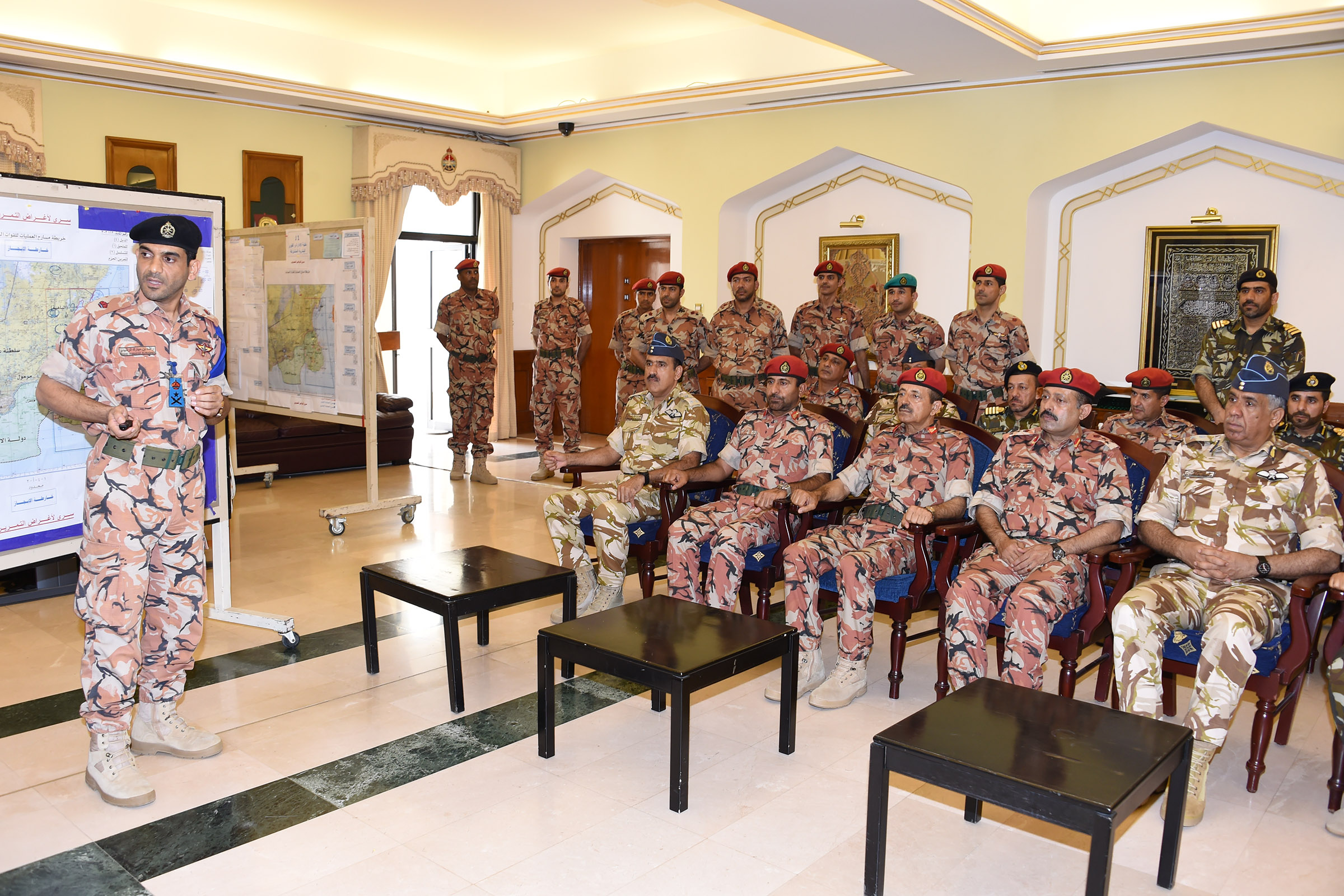Top Oman military officials supervise Al Hazim exercise carried out by students