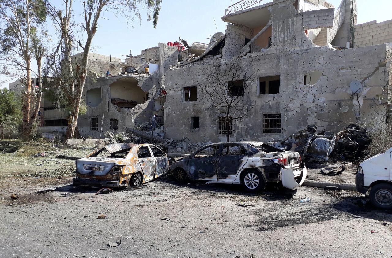 Three car bombs target Damascus, 20 killed
