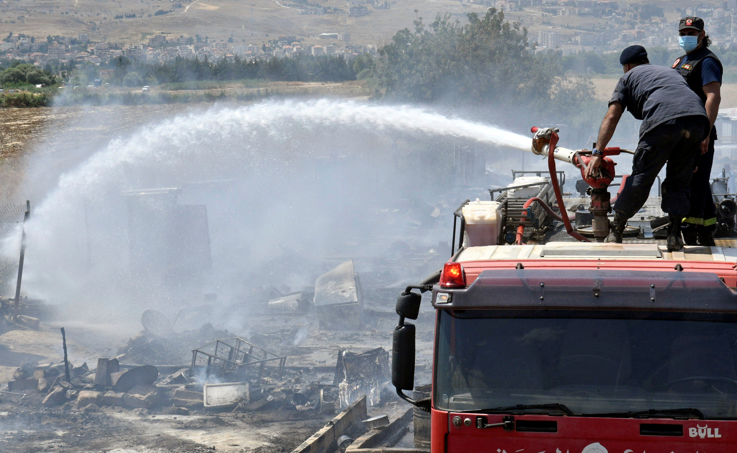 Fire at Syrian refugee camp in Lebanon's Bekaa Valley kills one