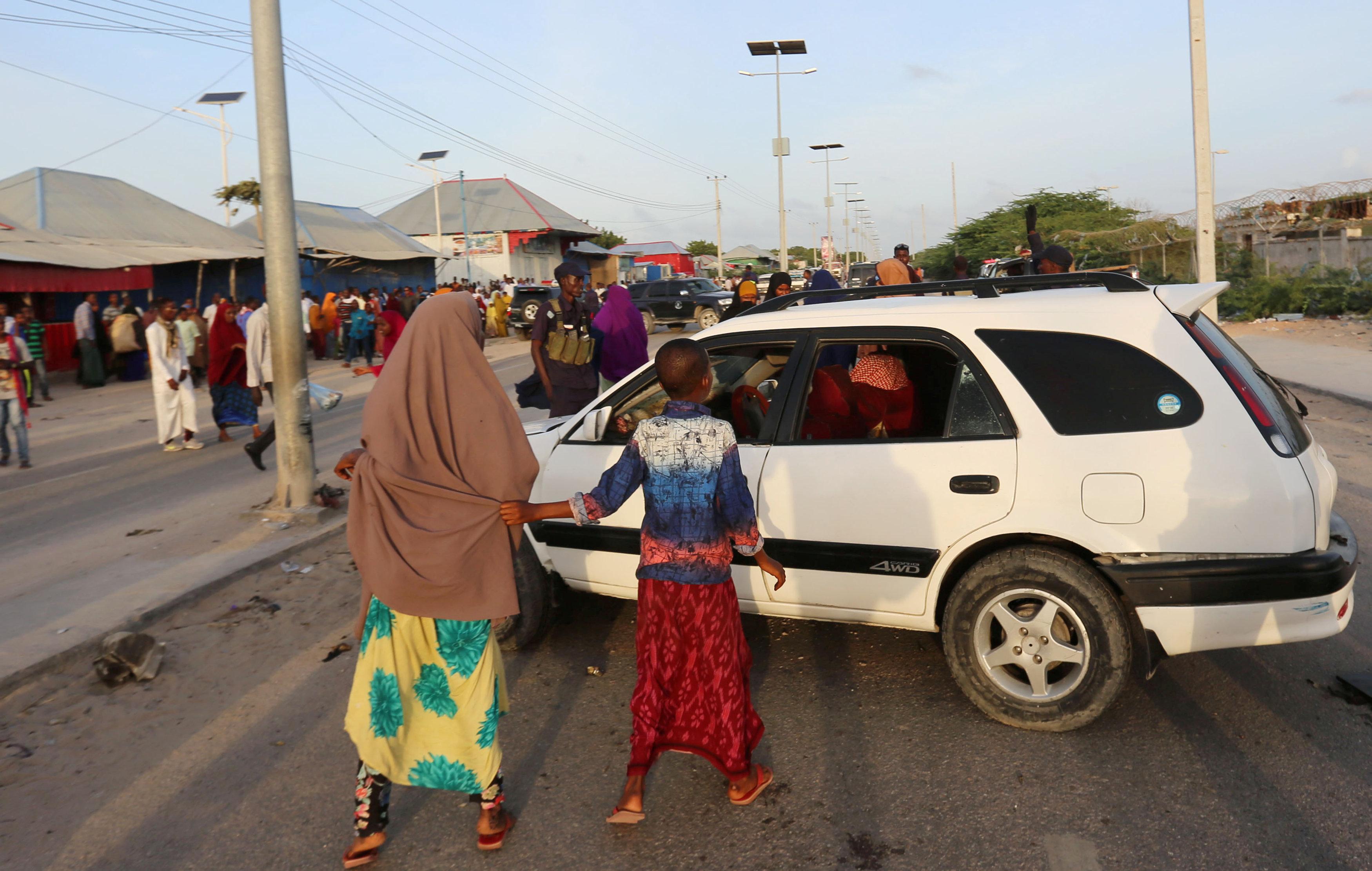 Roadside bomb kills two near Somalia's capital Mogadishu