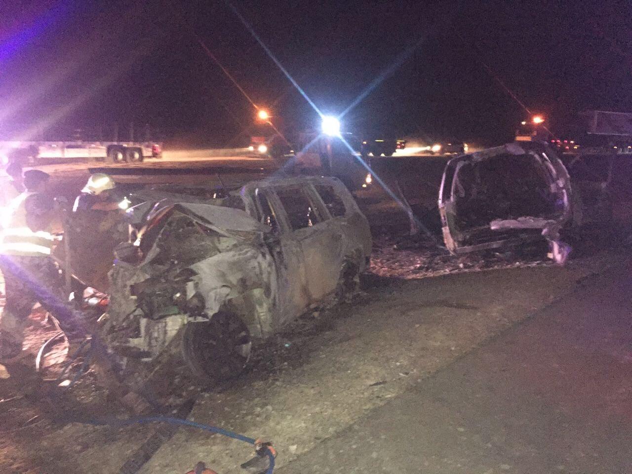 بالصور: حادث قرن علم الذي أودى بحياة وإصابة 15 سعودياً وإماراتياً