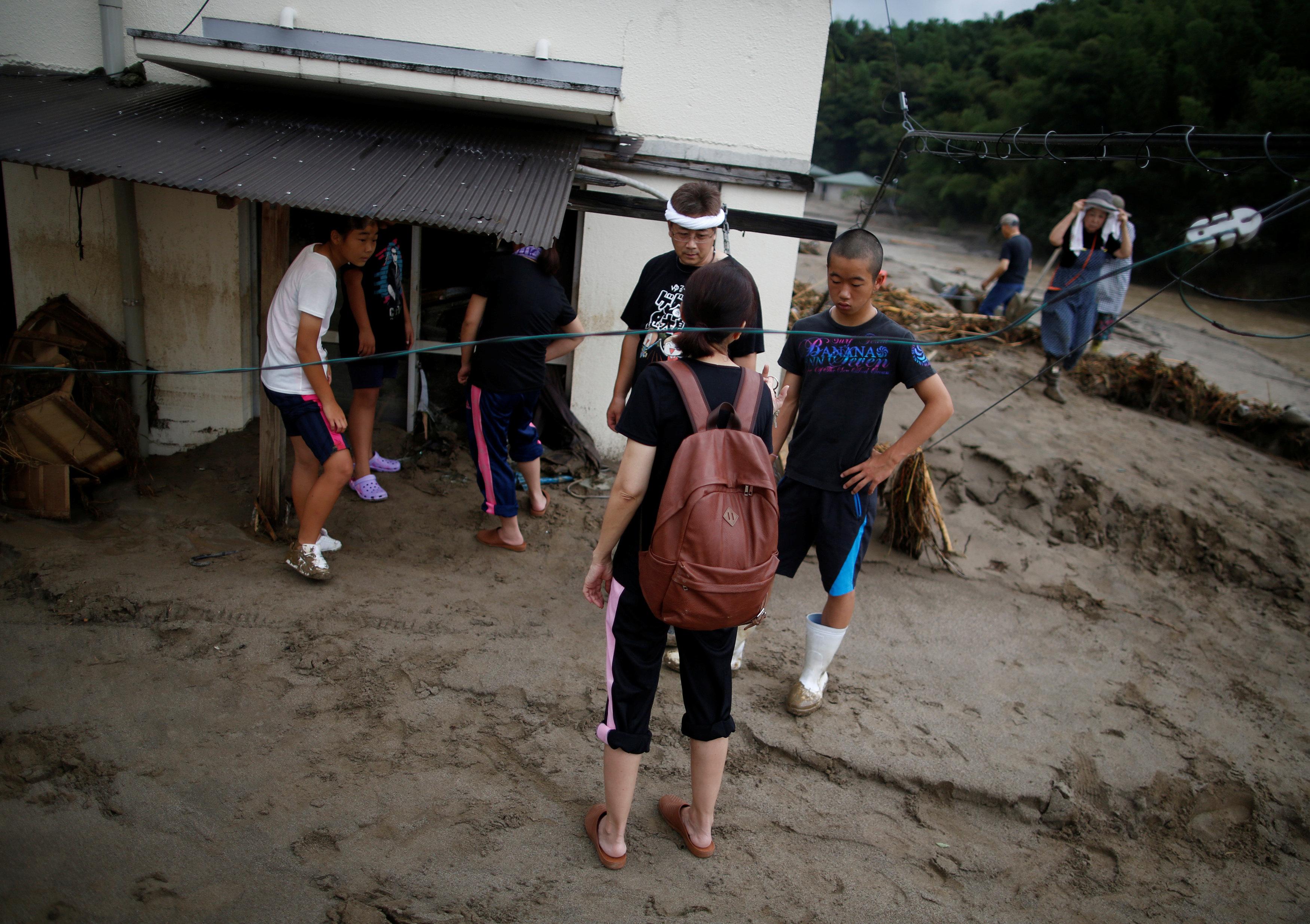 Rain wreaks havoc in Japan