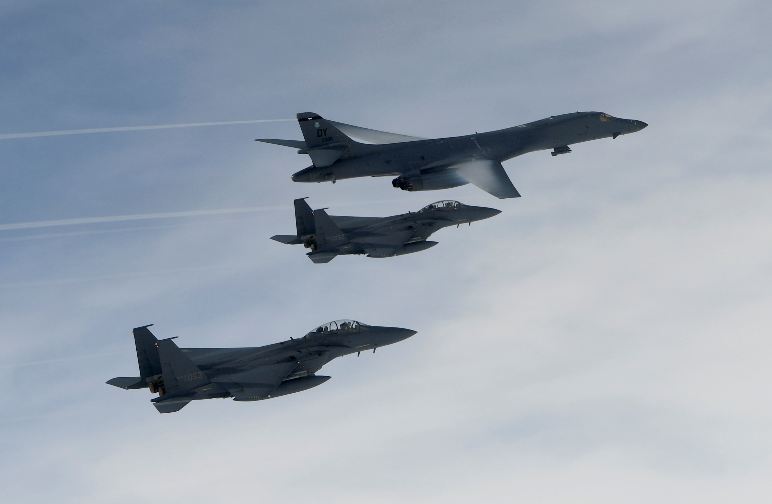 Two U.S. bombers hold firing drills with South Korean forces