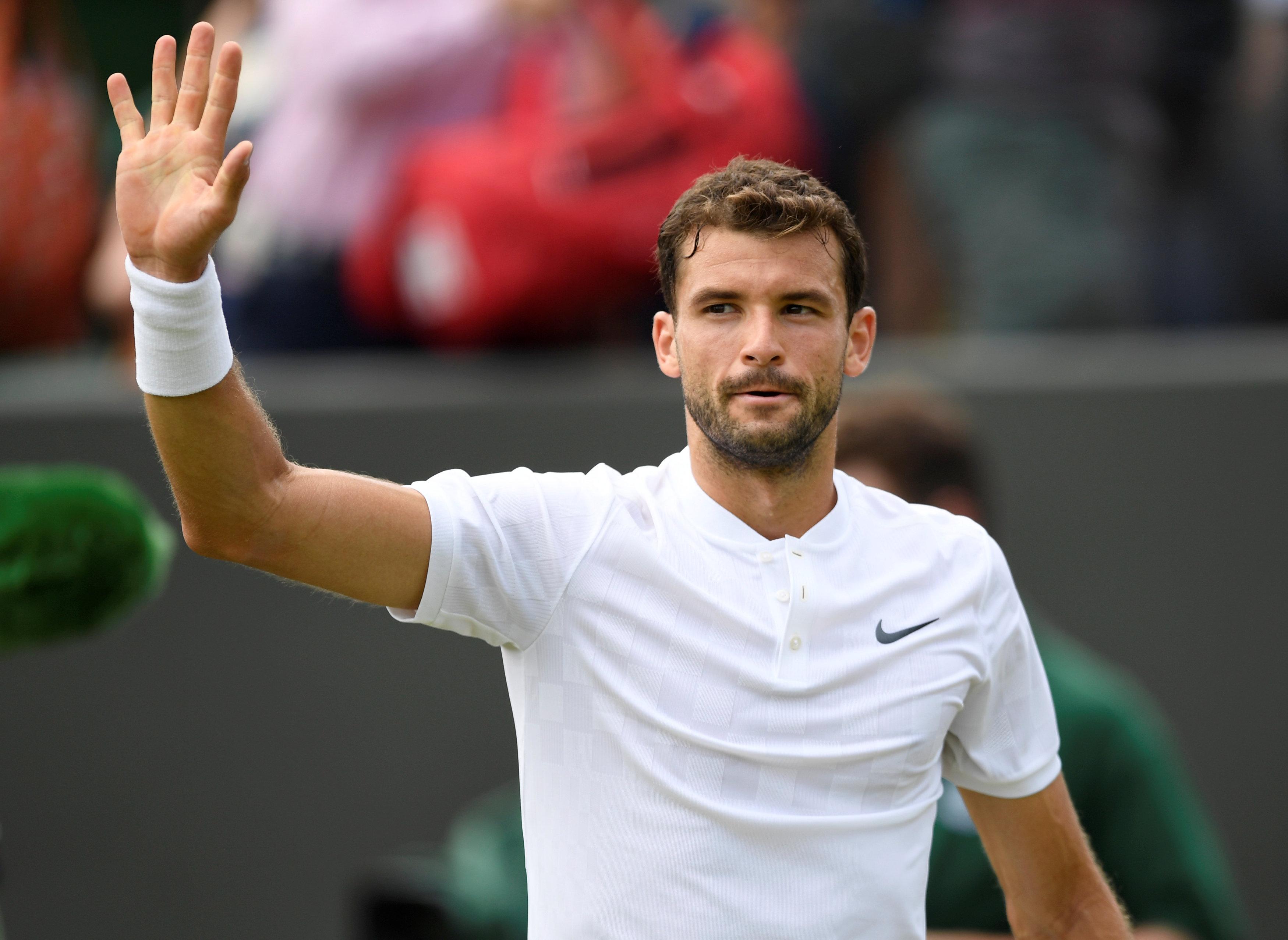 Tennis: Grigor Dimitrov gets easy ride into fourth round of Wimbledon