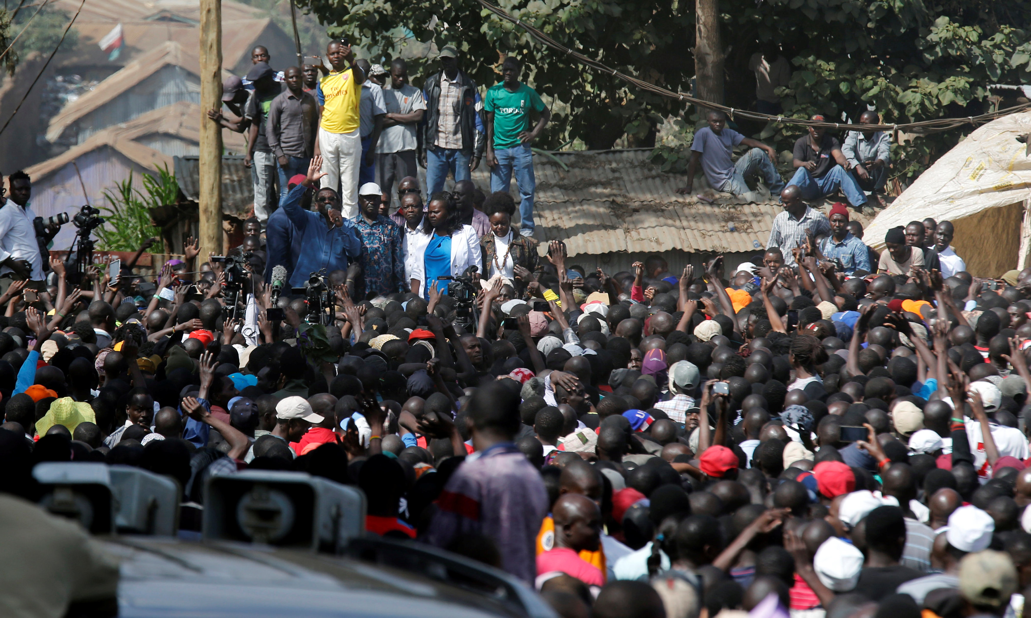 In pictures: Kenya opposition leader holds rally