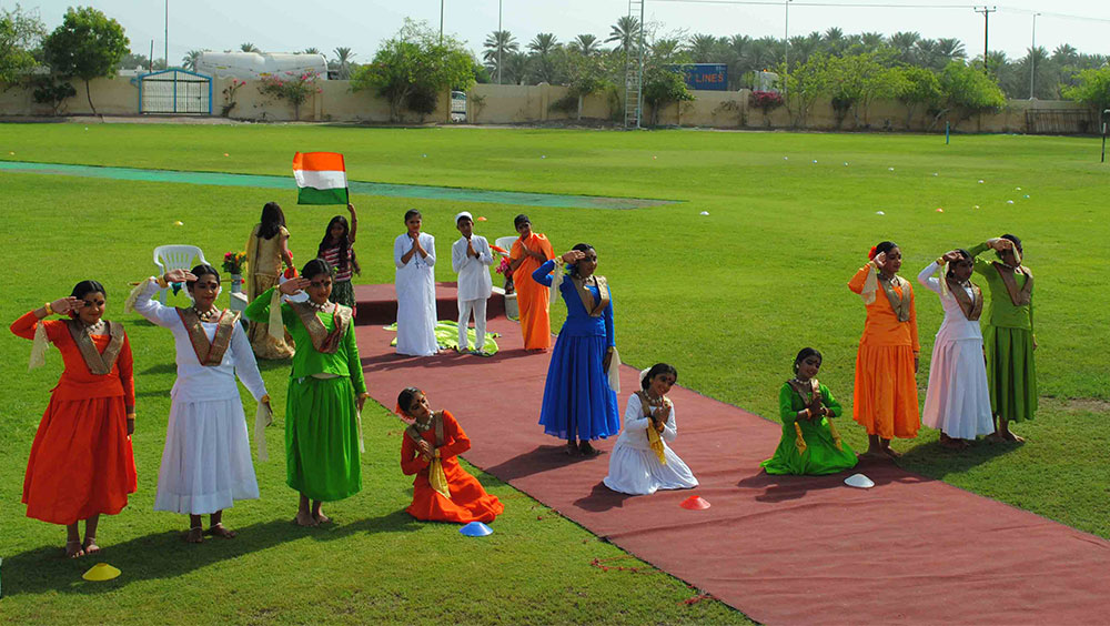 Independence Day celebrations at Indian School Muladha
