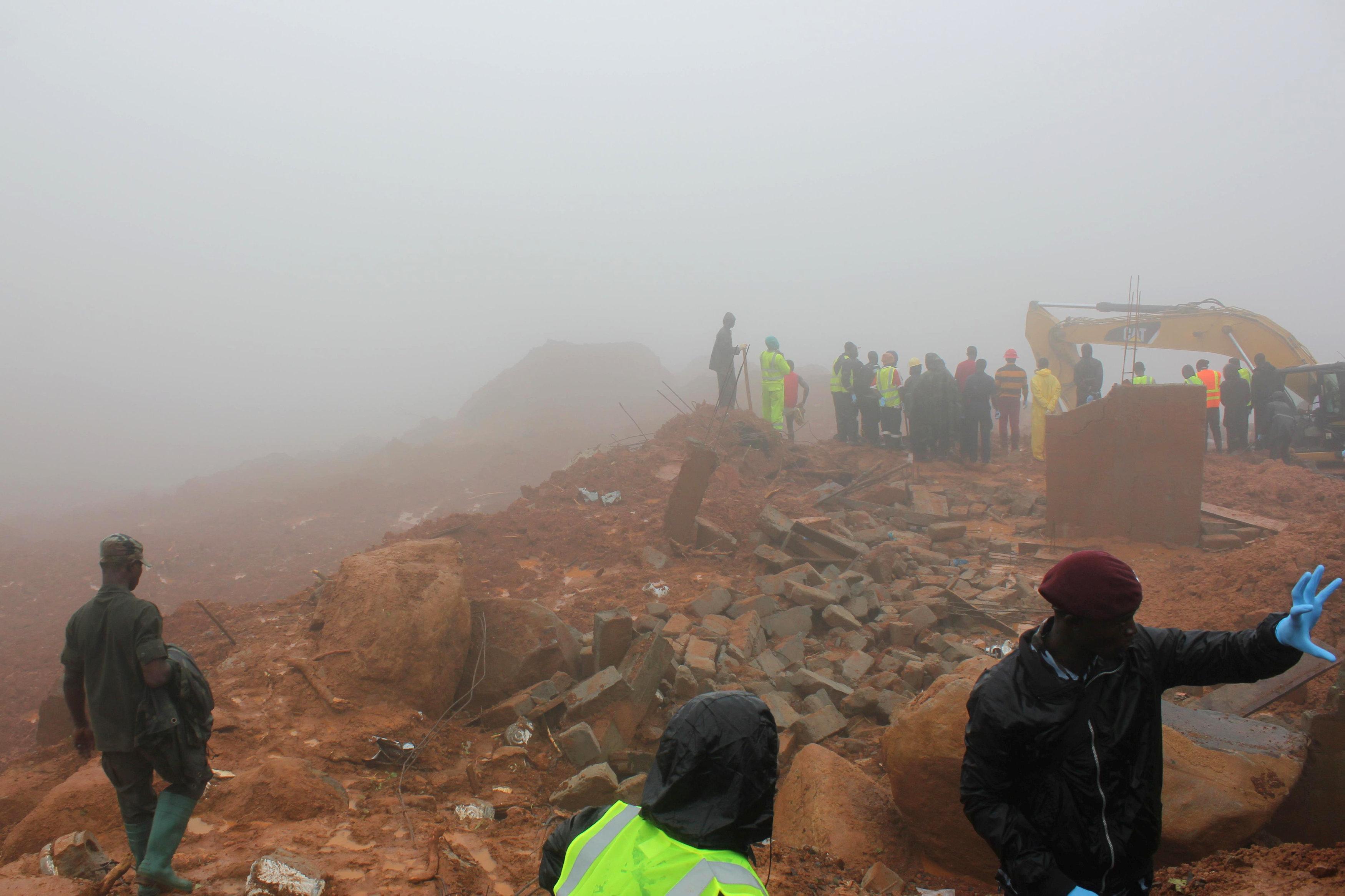 In pictures: Sierra Leone mudslide
