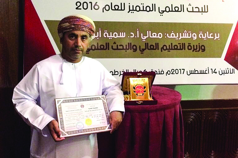 Omani scientist bags third place in Arab research award