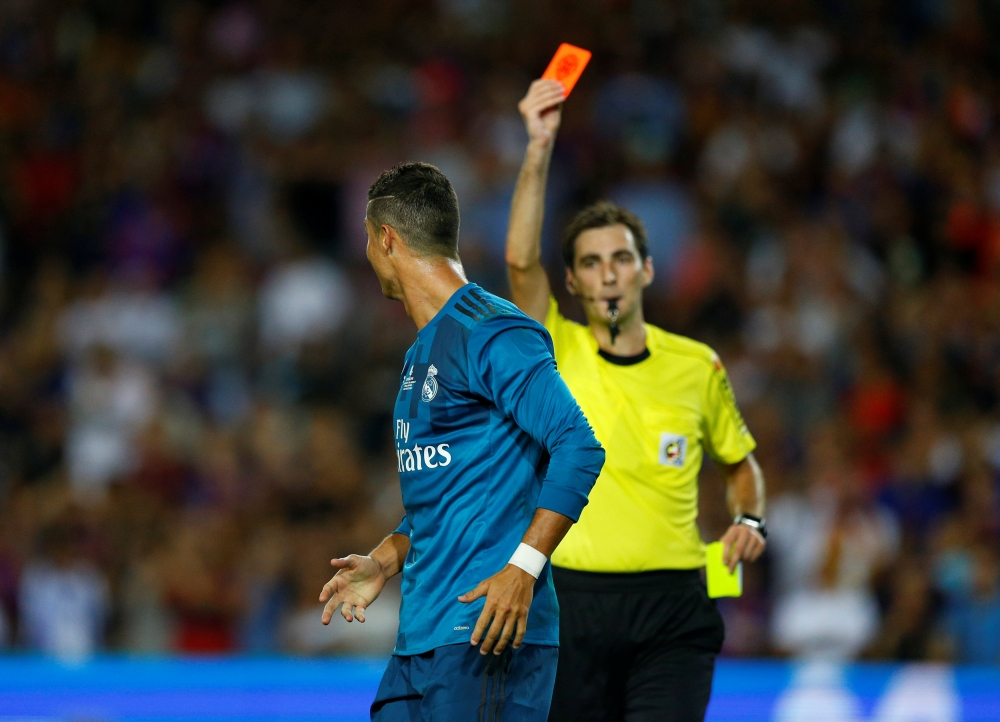 لجنة الاستئناف ترفض الطعن في البطاقة الصفراء الثانية لرونالدو