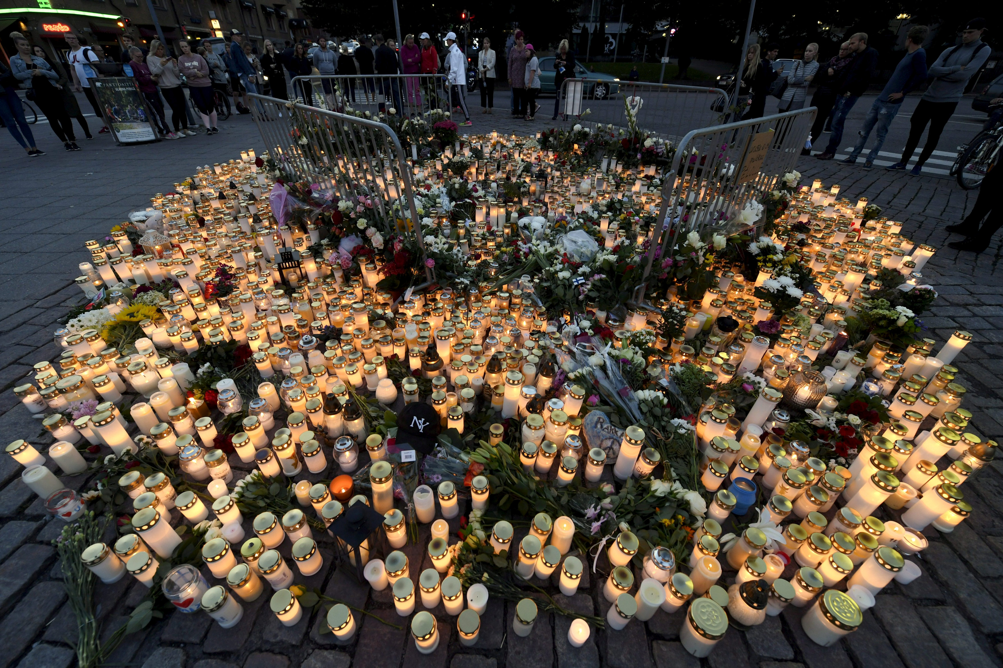 In pictures: Commemoration of Finland stabbing victims