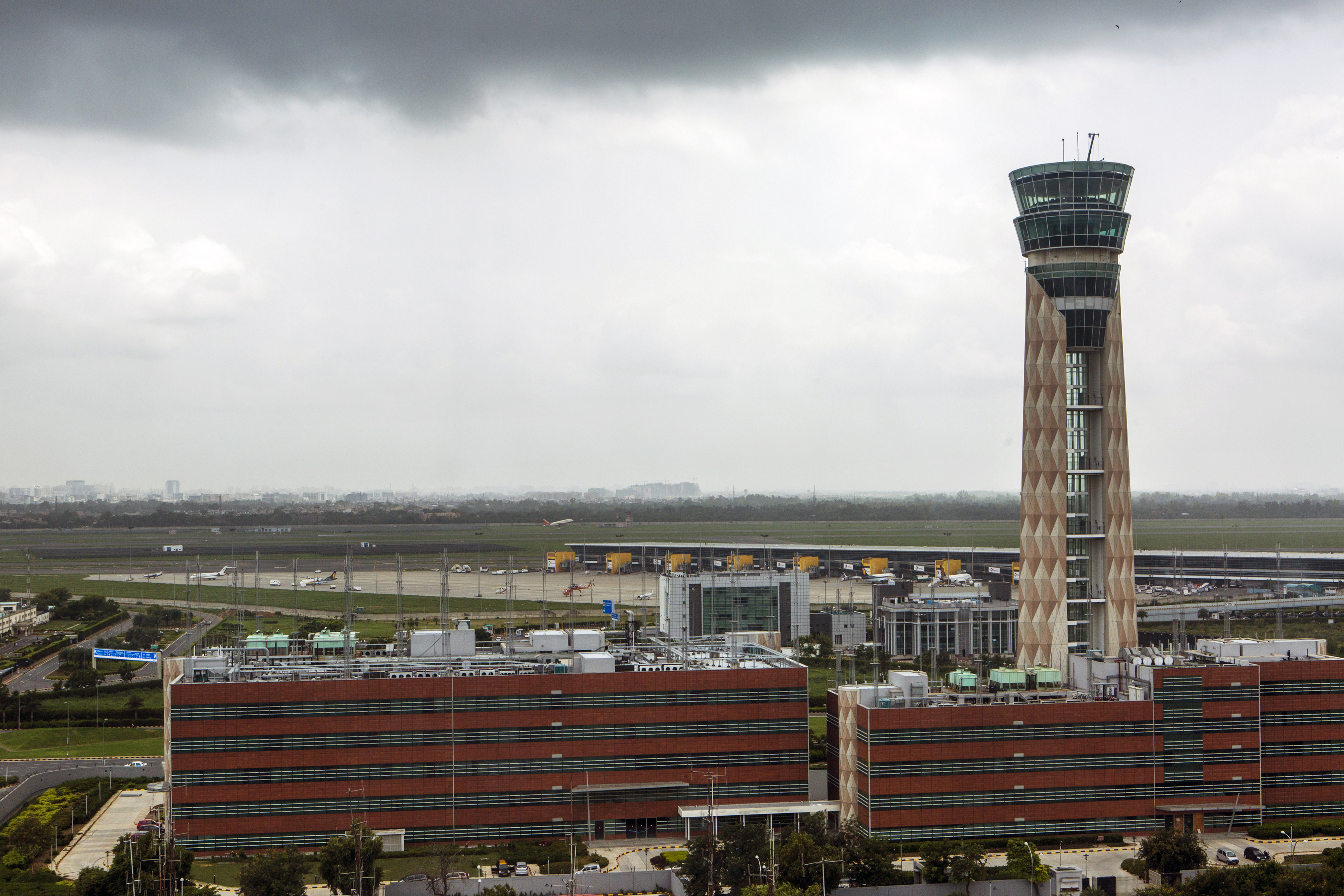 Flight operations suspended at Delhi airport after 'drone-like object' spotted on runway