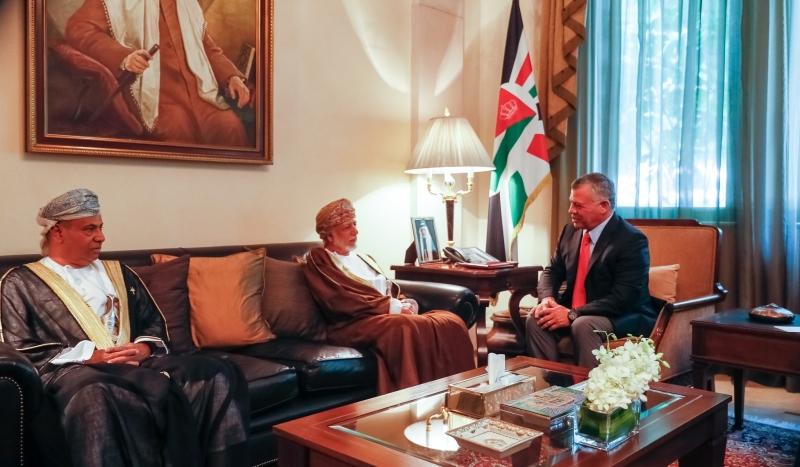 Jordan's King Abdullah II receives Alawi