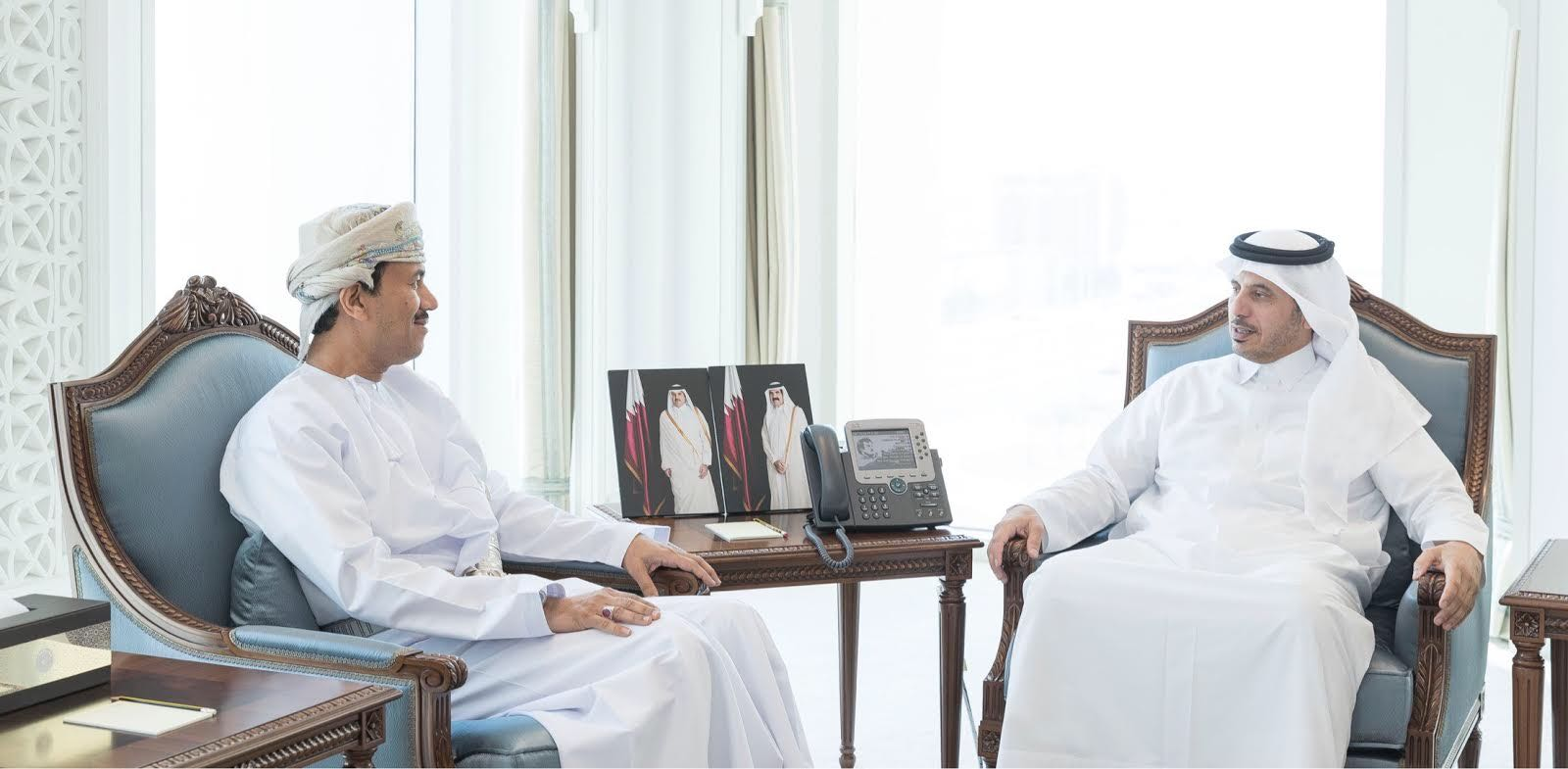 Qatar prime minister receives Oman ambassador