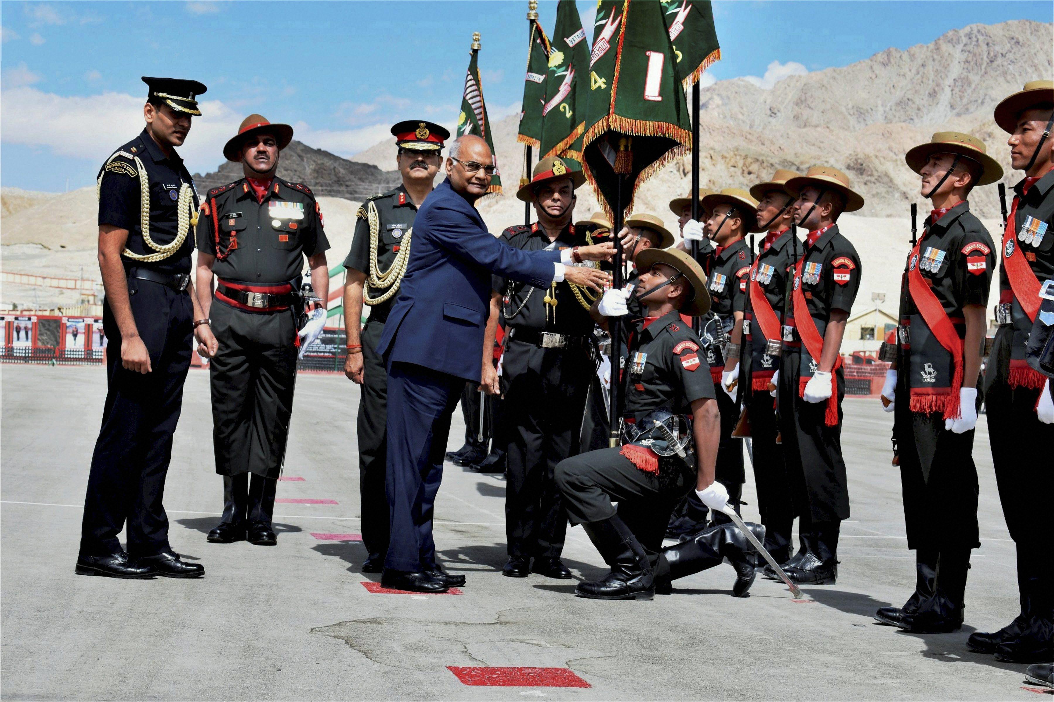 Ladakh Scouts regiment gets President's Colours