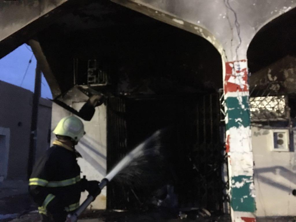 حريق بمحل تجاري أدى إلى انفجار غازي ..وأضرار مادية جسيمة ببدية