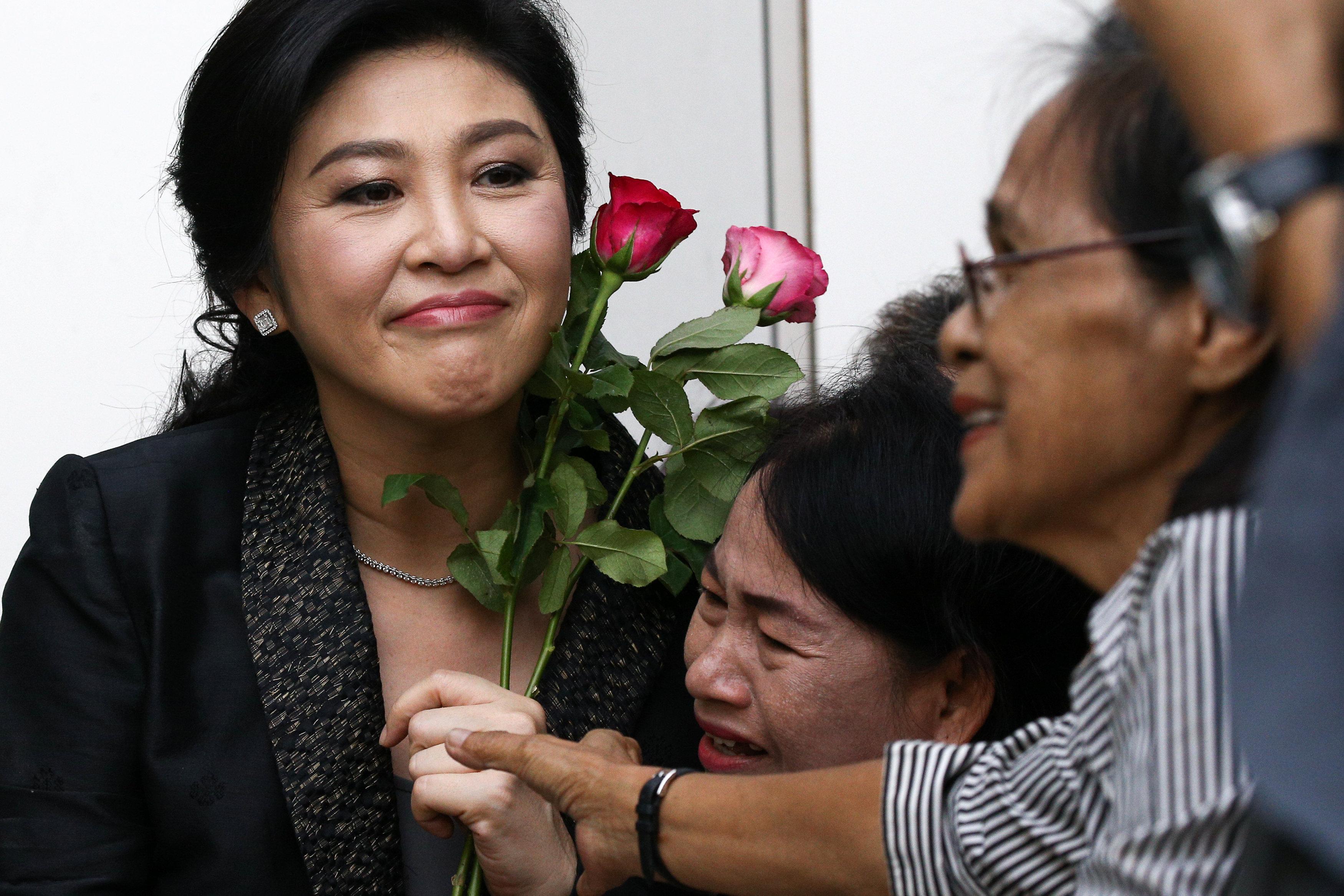 Thailand's former prime minister Yingluck flees to Dubai