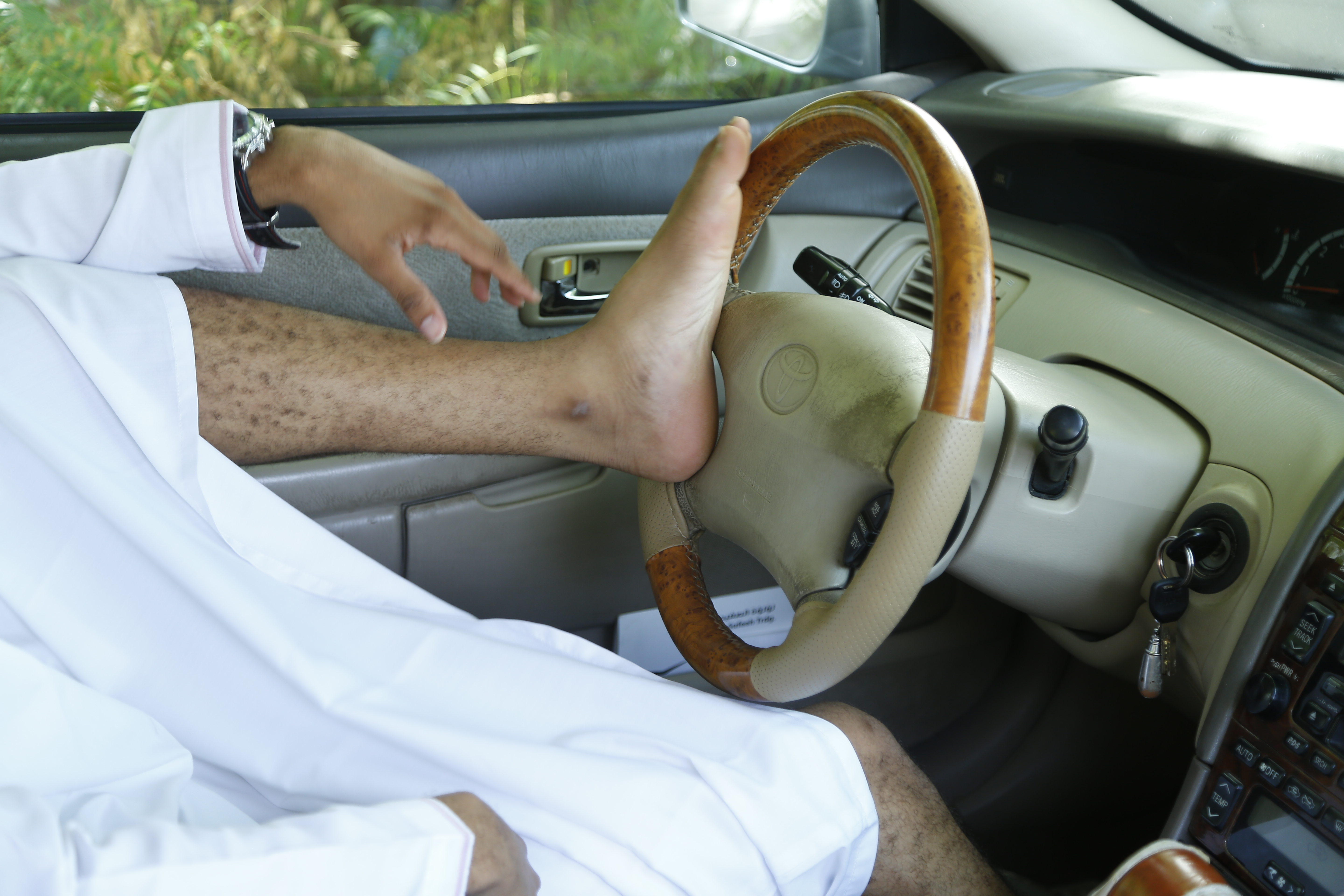 Don't drive with your feet, says Royal Oman Police