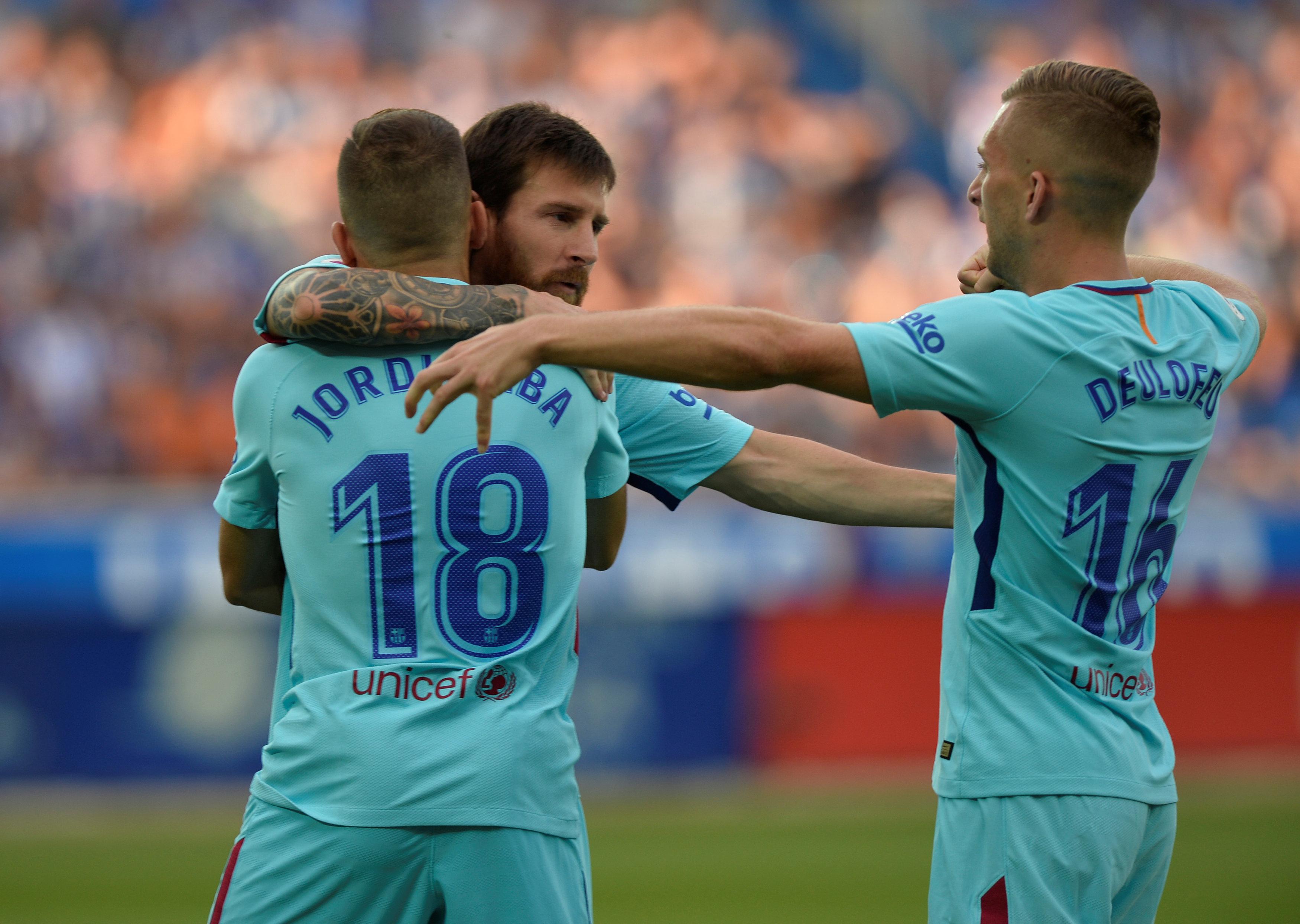 Football: Messi double gives Barca win at Alaves