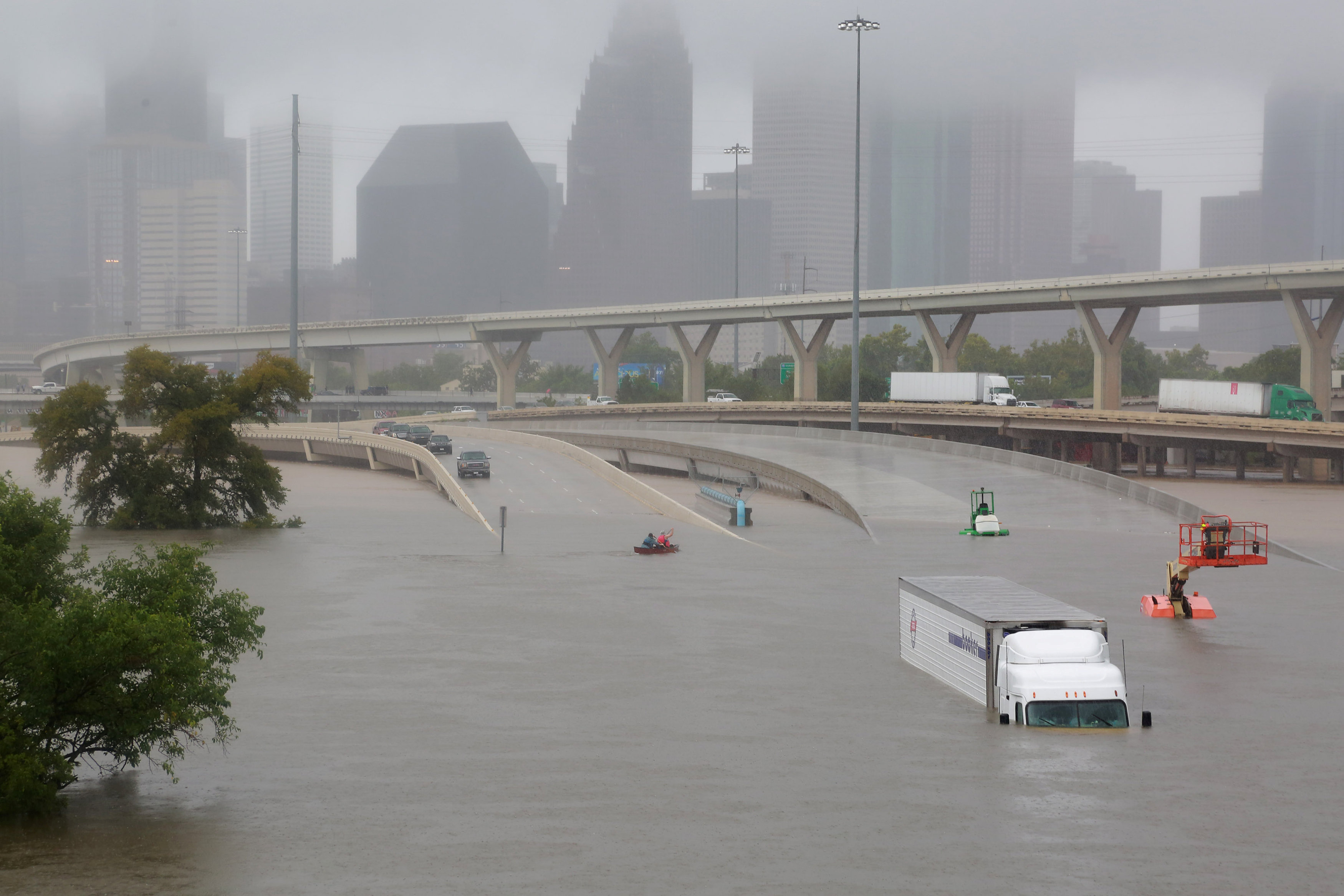 Tropical Storm Harvey cripples Houston with rains and floods